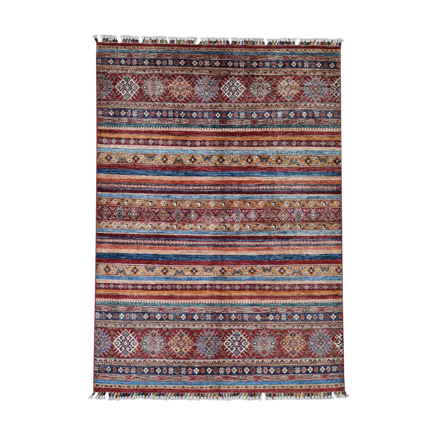 "5'X6'10""  Khorjin Design Super Kazak Hand-Knotted Pure Wool Oriental Rug moadcebb"