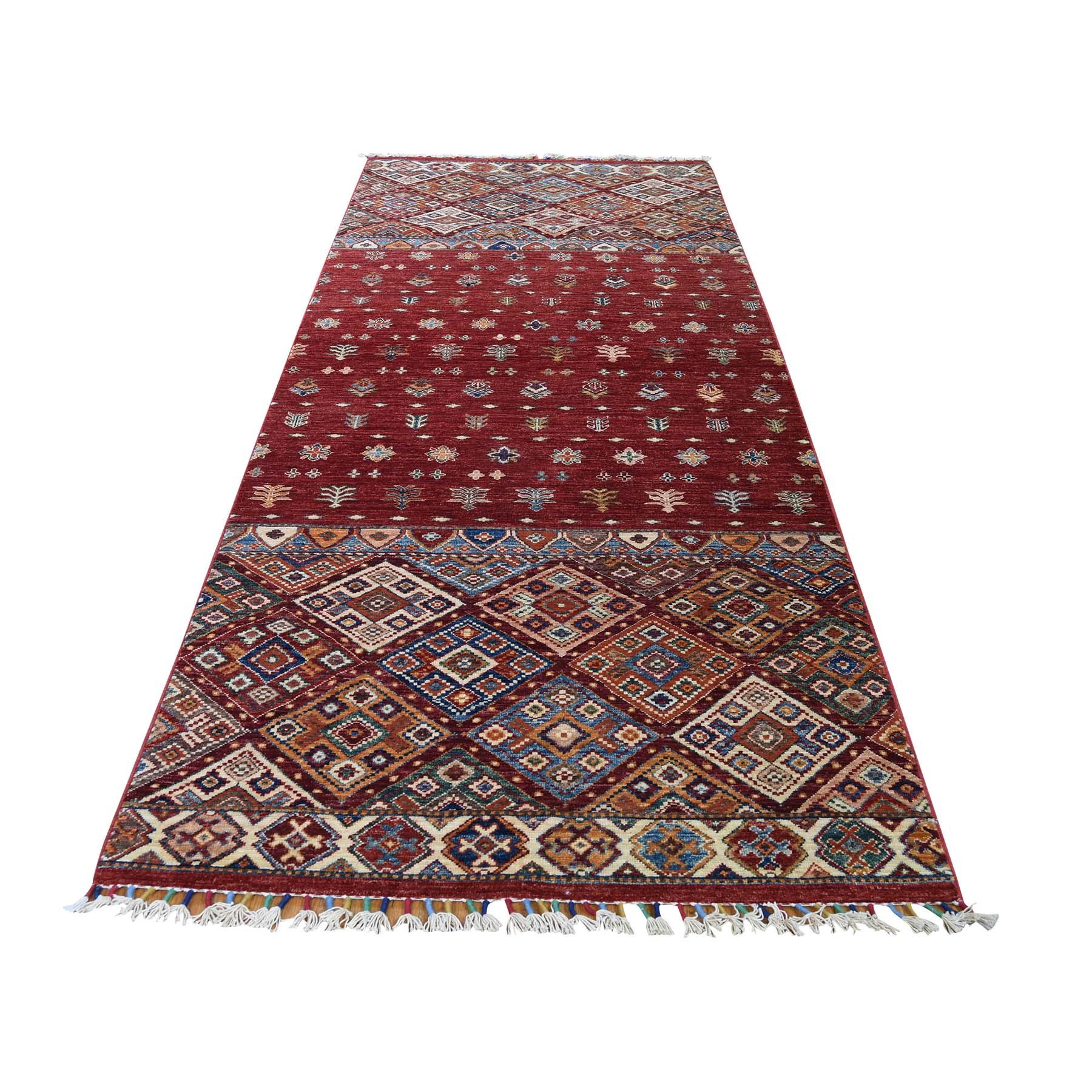 """3'6""""X9'9"""" Khorjin Design Super Kazak Runner Hand-Knotted Pure Wool Oriental Rug moadceb7"""