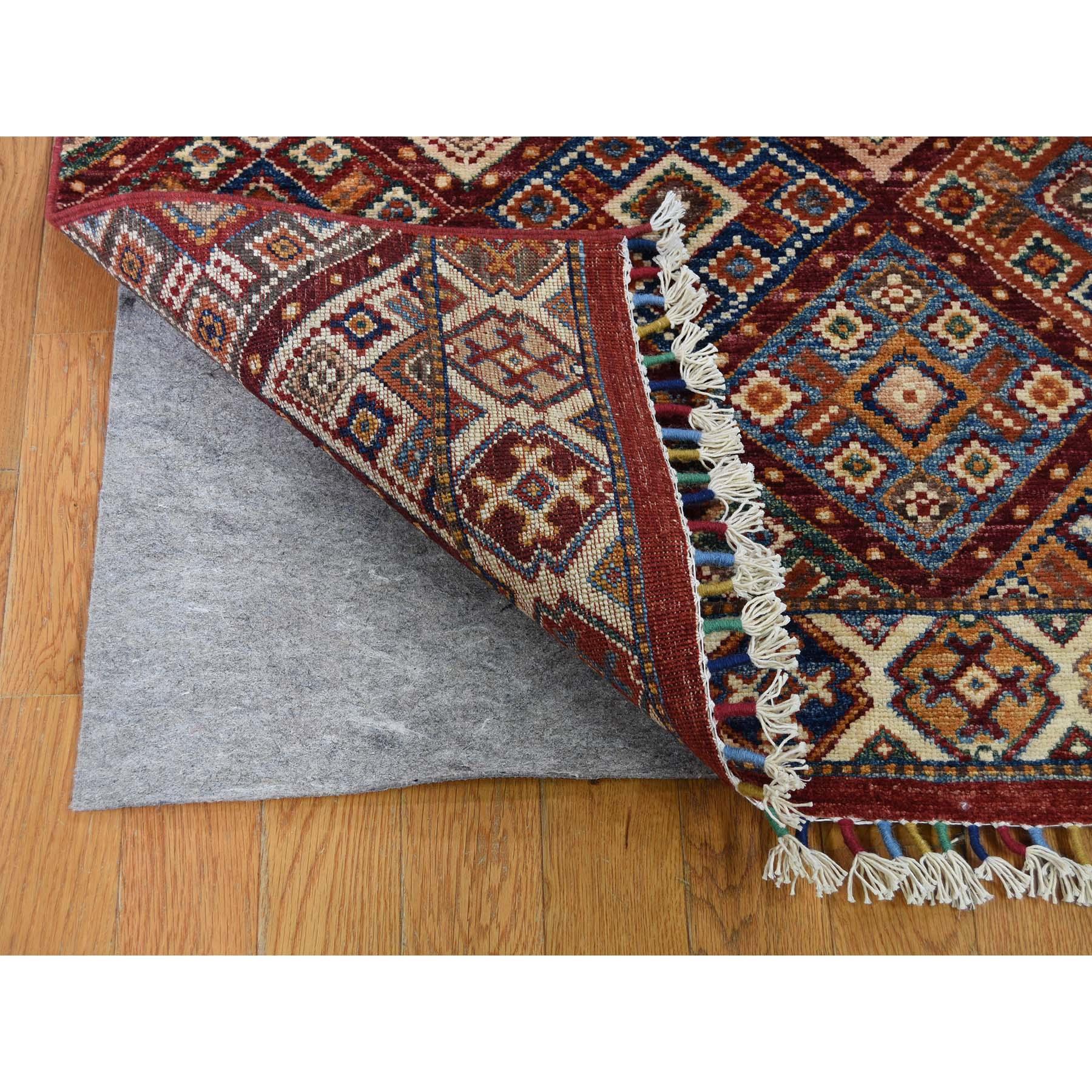 3-6 x9-9  Khorjin Design Super Kazak Runner Hand-Knotted Pure Wool Oriental Rug