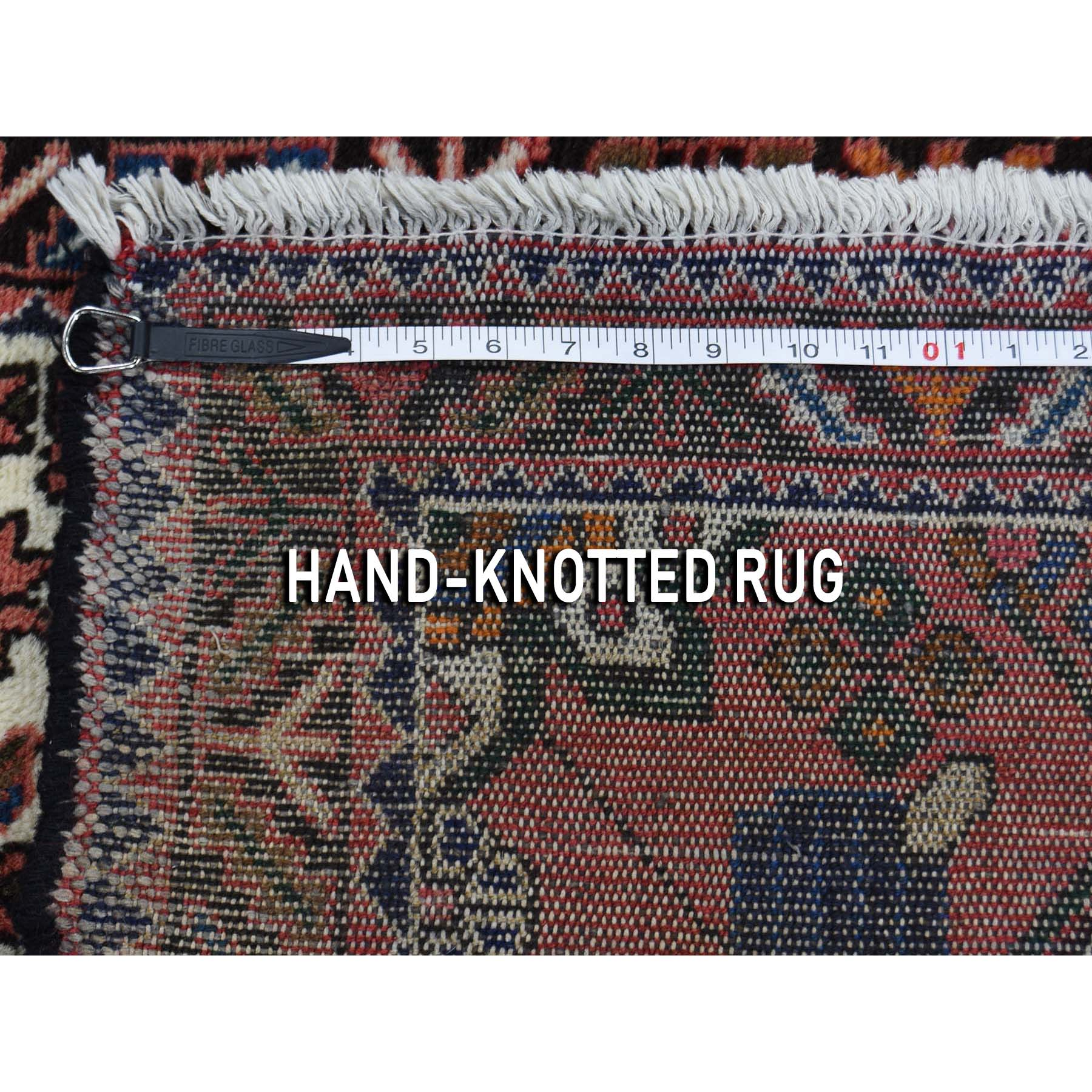 3-4 x4-9  Vintage Persian Hamadan Pure Wool Hand-Knotted Oriental Rug