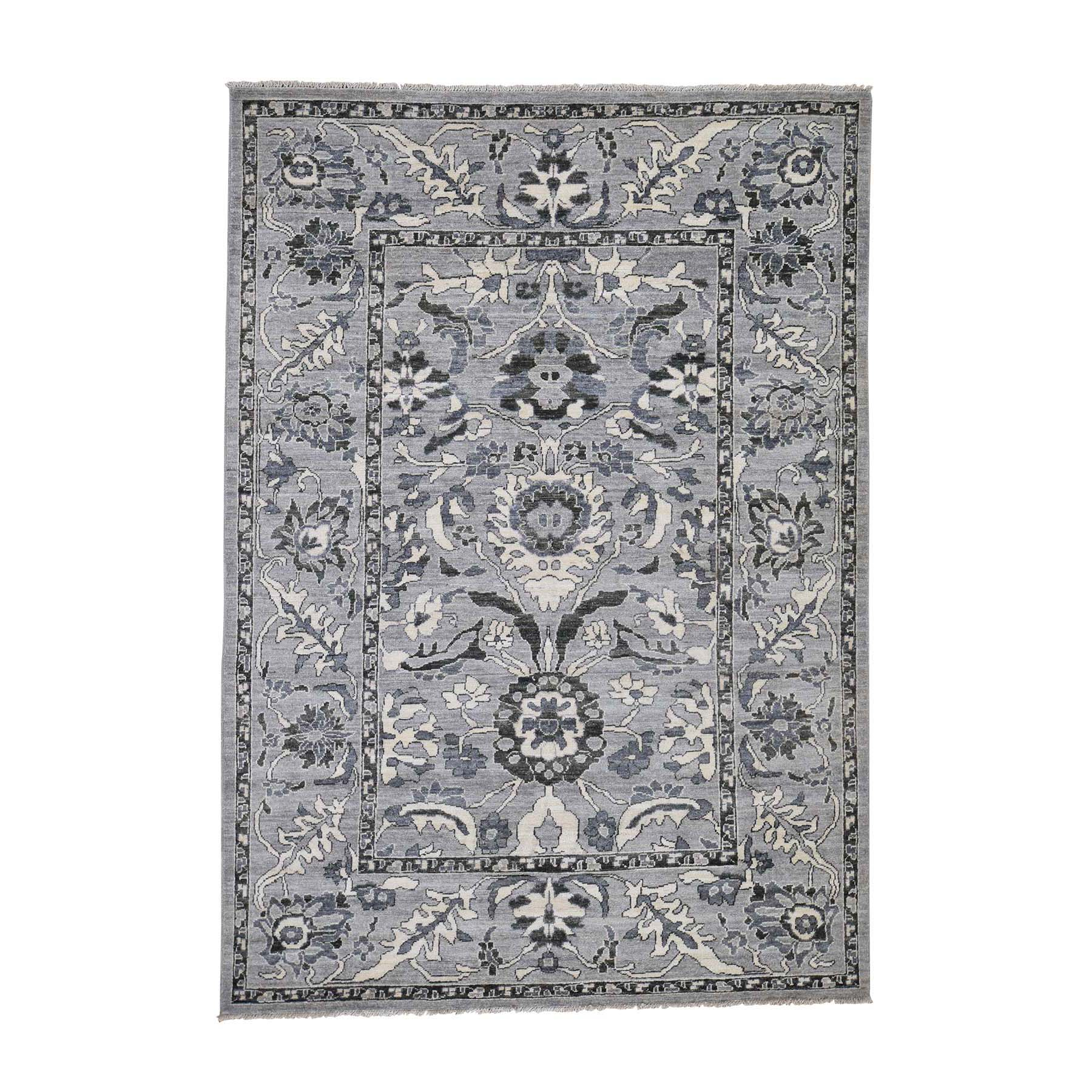 """5'5""""x7'7"""" Mahal Design Undyed Natural Wool Hand-Knotted Oriental Rug 43575"""