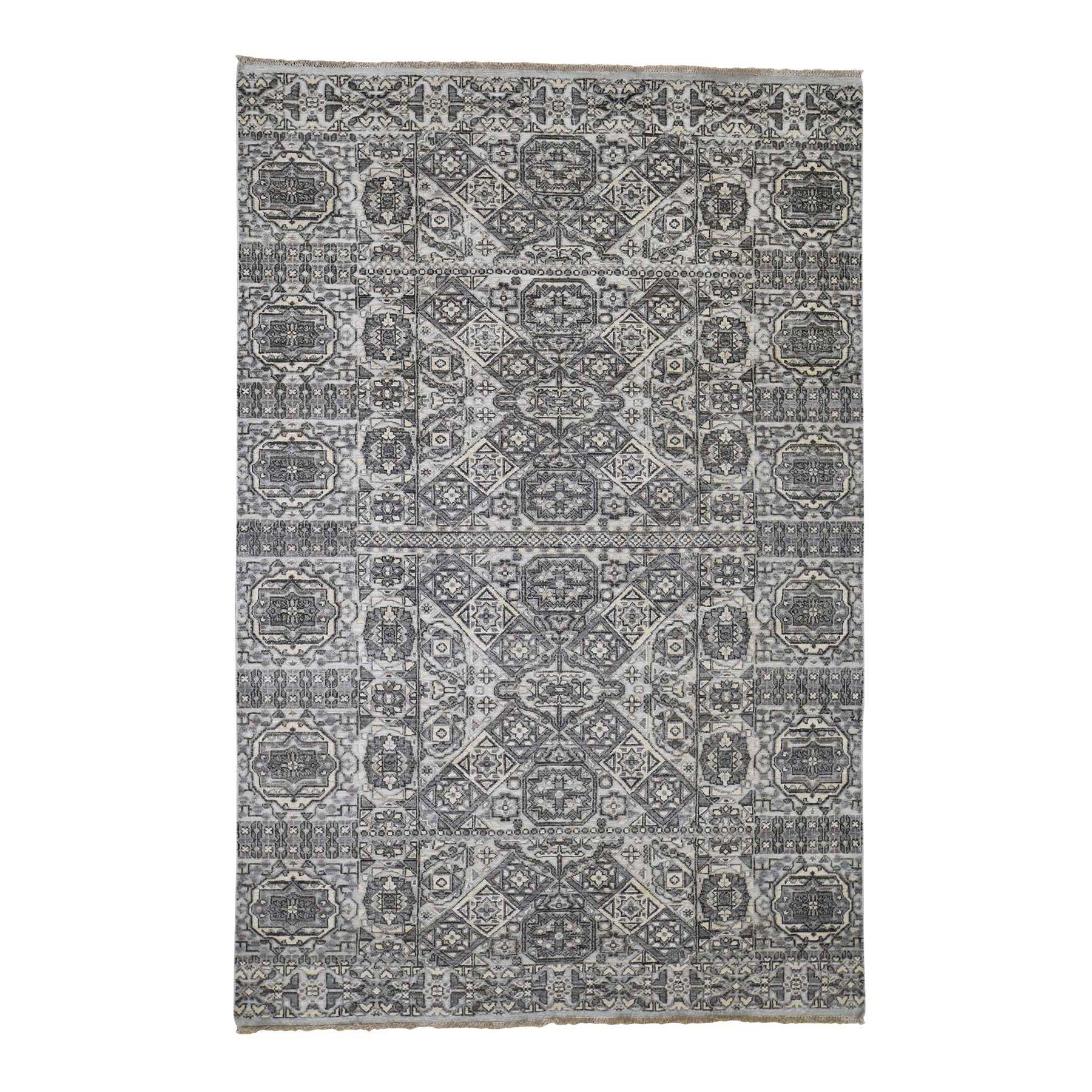 """5'6""""x8'2"""" Mamluk Design Hand-Knotted Undyed Natural Wool Oriental Rug"""