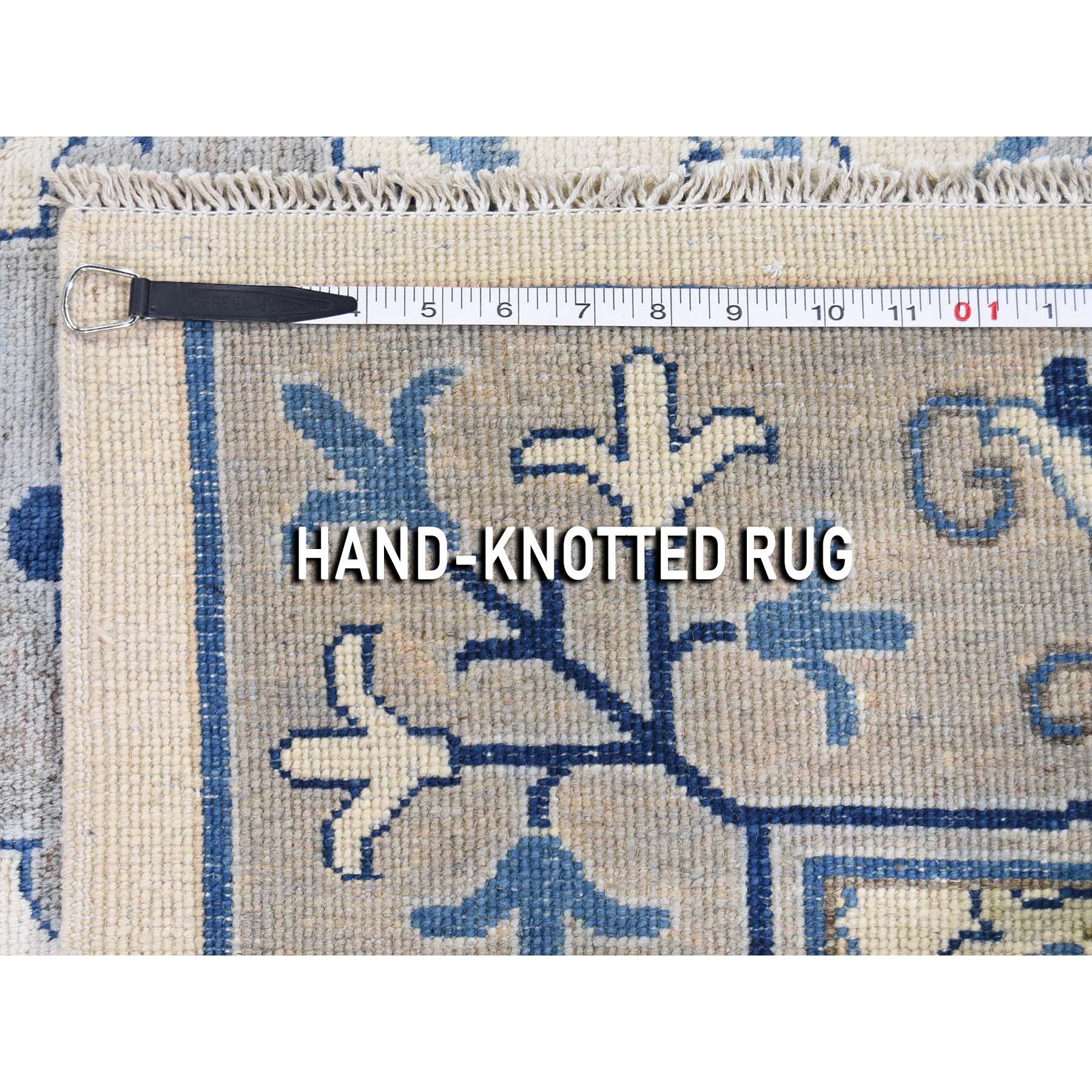 8-x9-9  Arts & Craft Design Vintage Look Pure Wool Hand-Knotted Oriental Rug