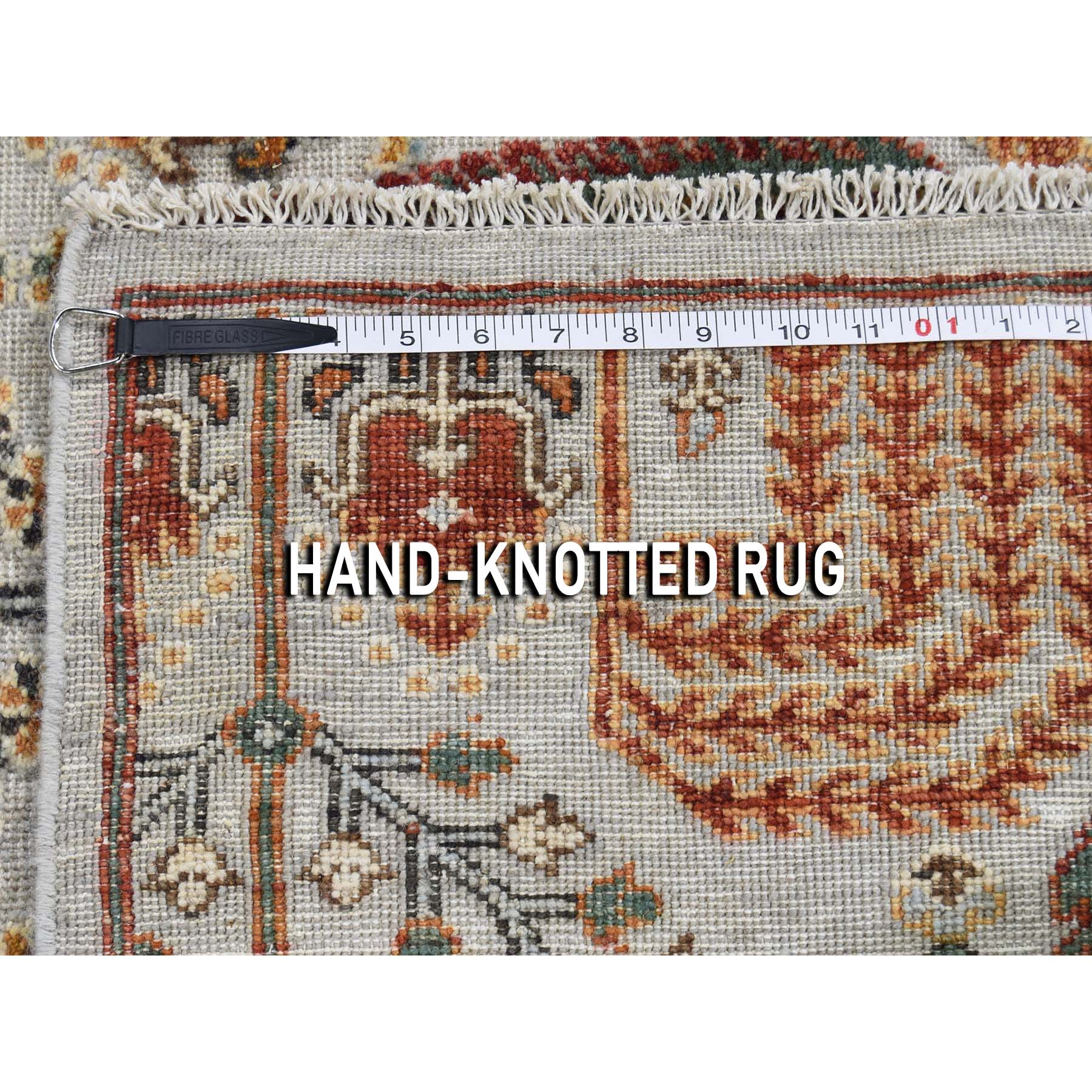 6-x9-4  Texture Hi-Lo Pile Peshawar Willow & Cypress Tree Design Hand-Knotted Oriental Rug