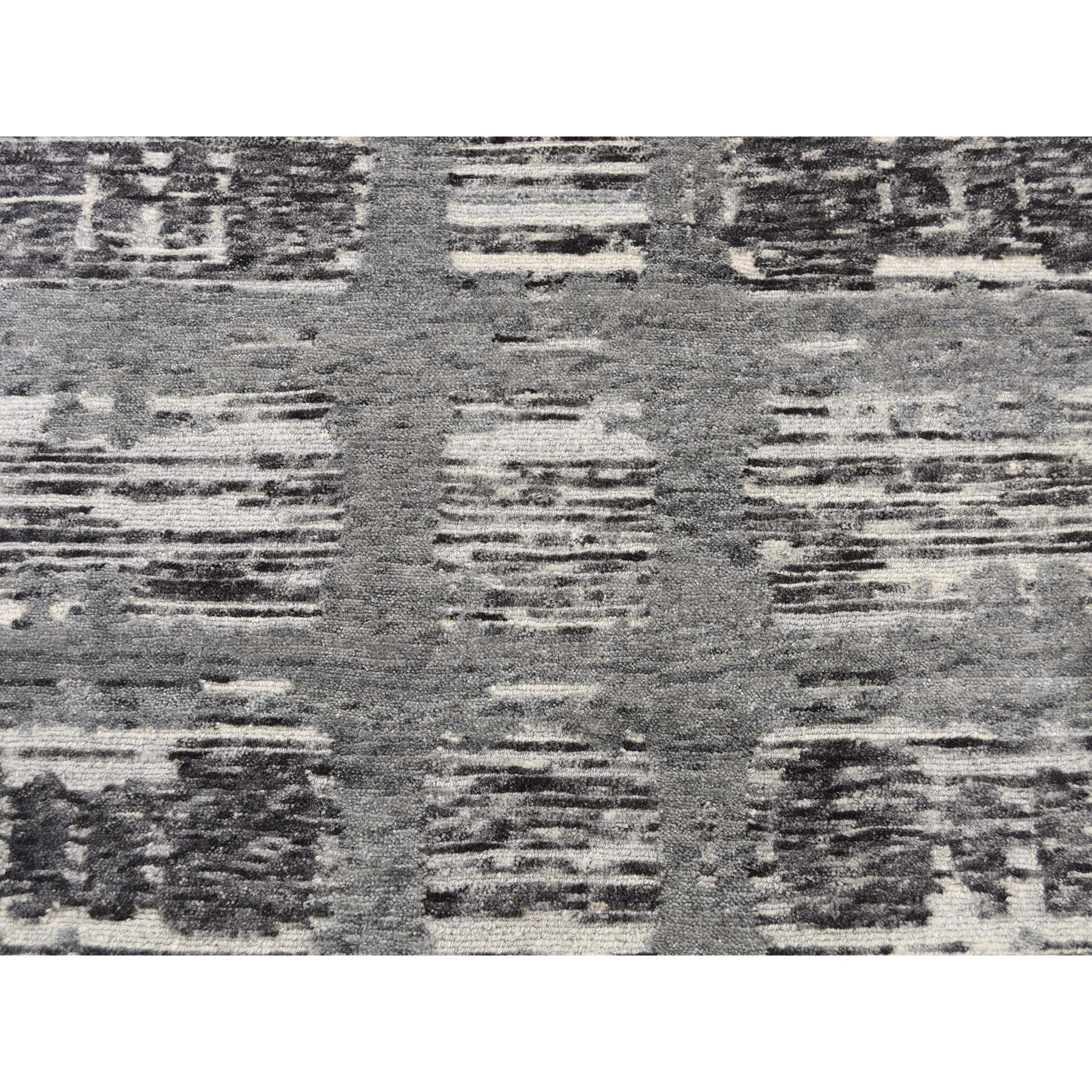 "8'x8'1"" Undyed Natural Wool Hand Spun Yarn Oriental Hand-Knotted Rug"