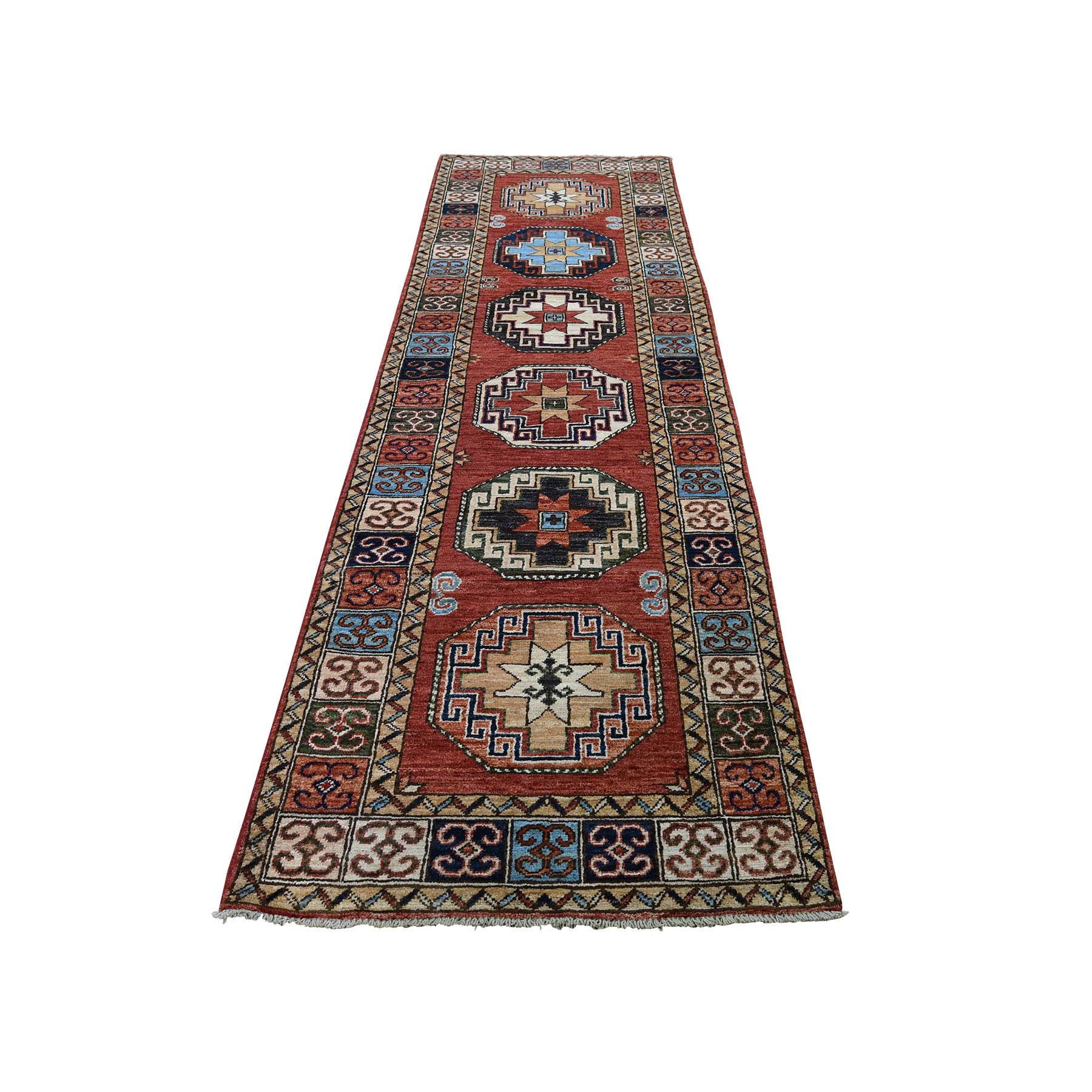 "2'8""X10' Pure Wool Hand-Knotted Afghan Ersari Elephant Feet Design Runner Oriental Rug moadc8a8"