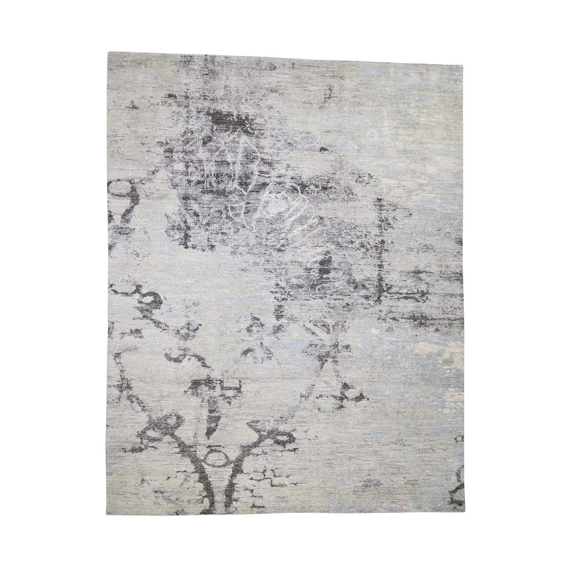 8'X10' Pure Wool Abstract Design Hand-Knotted Oriental Rug moadc8c7