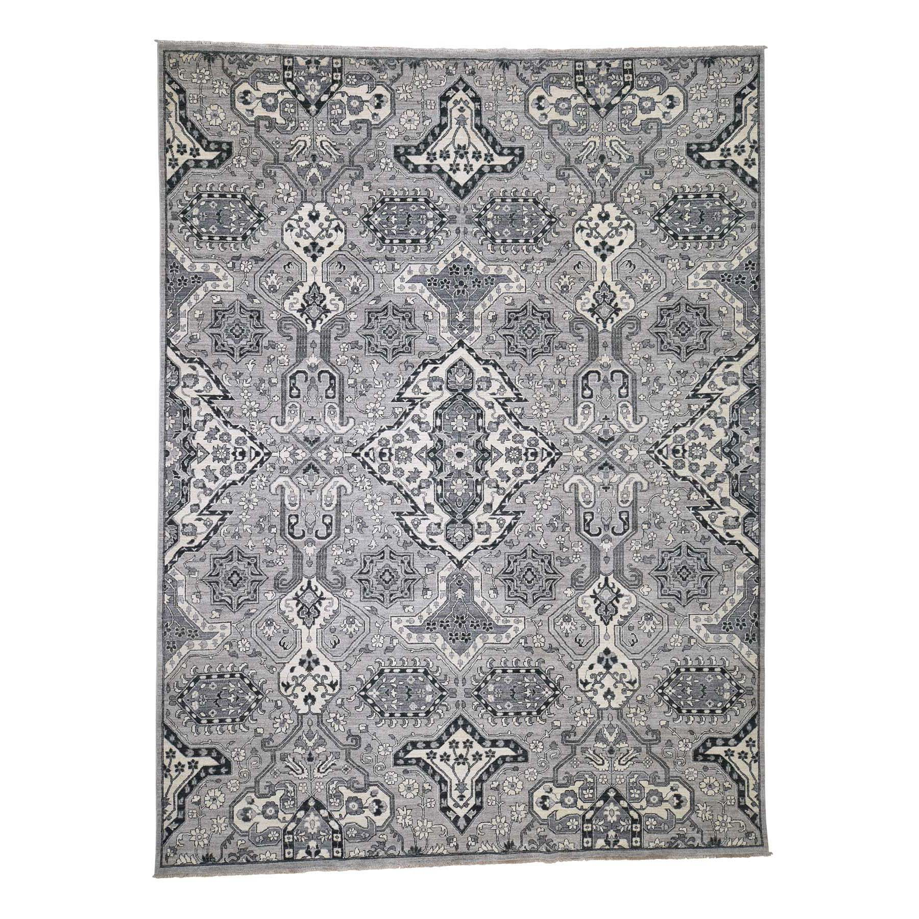 "9'1""X12'  Hand-Knotted Peshawar With Heriz Design Oriental Rug moadc8d0"