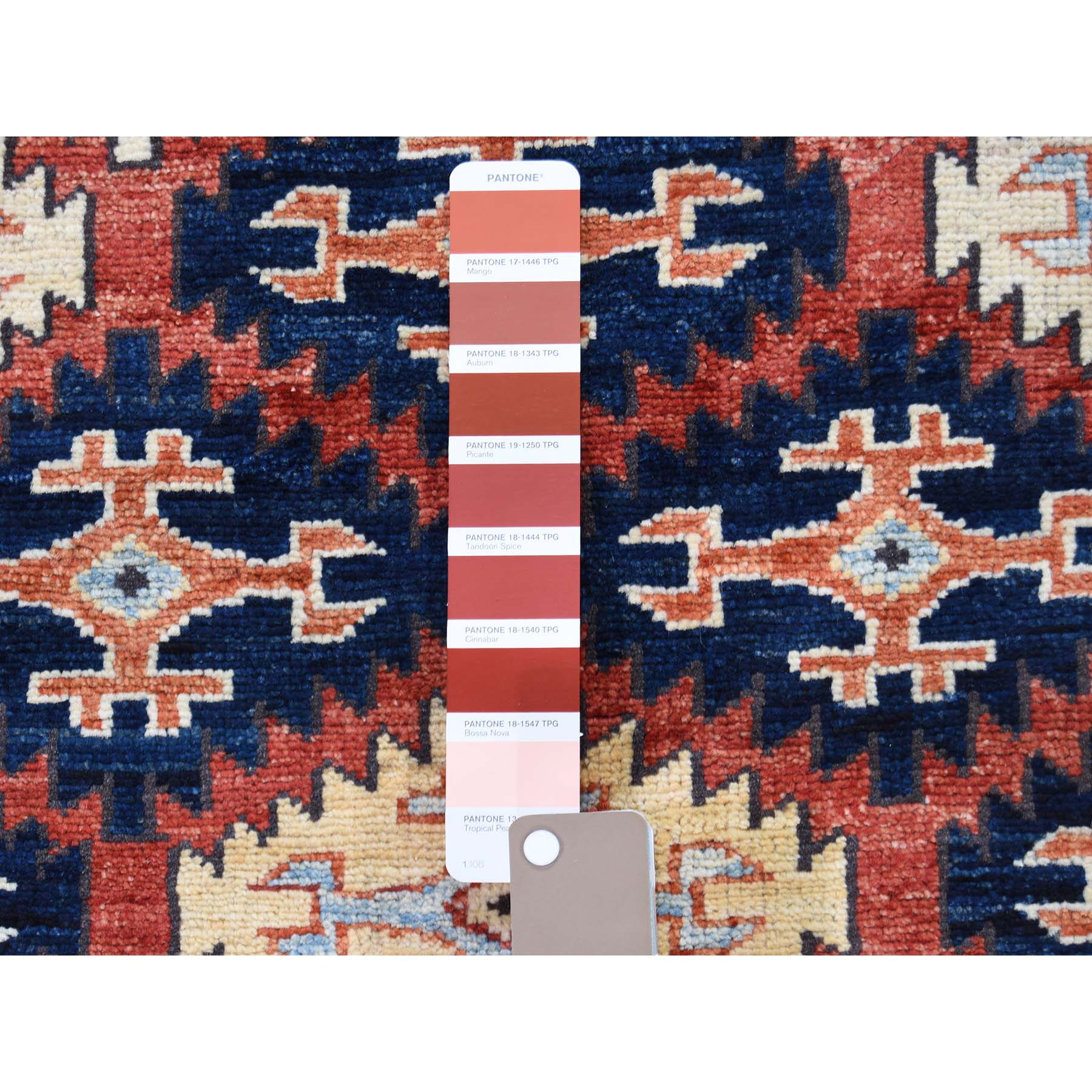 4-x5-7  Afghan Ersari Repetitive Design Hand Knotted Oriental Rug