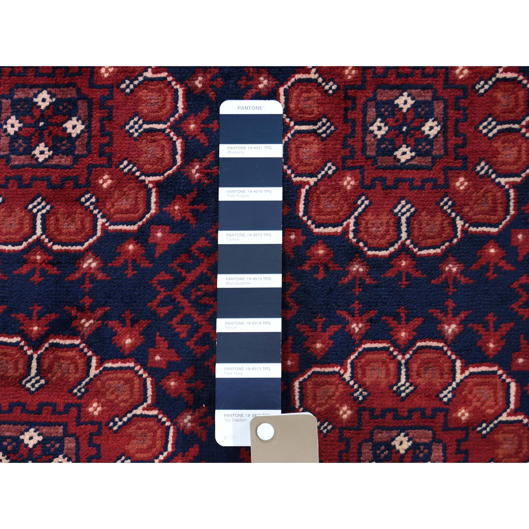 4-1 x6-3  Afghan Khamyab Dense Weave Silky Wool Hand Knotted Oriental Rug