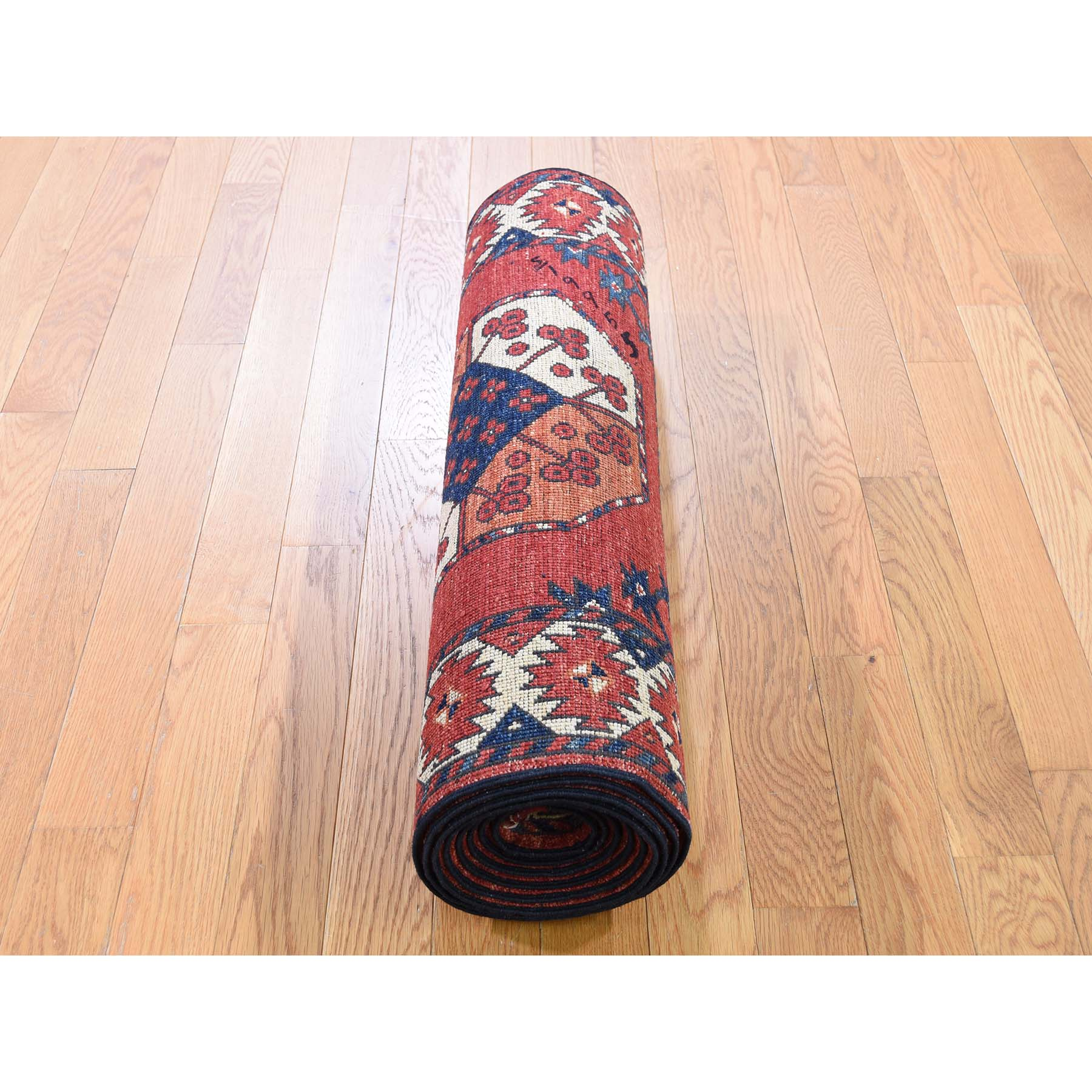 2-9 x11-3  Afghan Ersari Elephant Feet Design Runner Hand-Knotted Oriental Rug