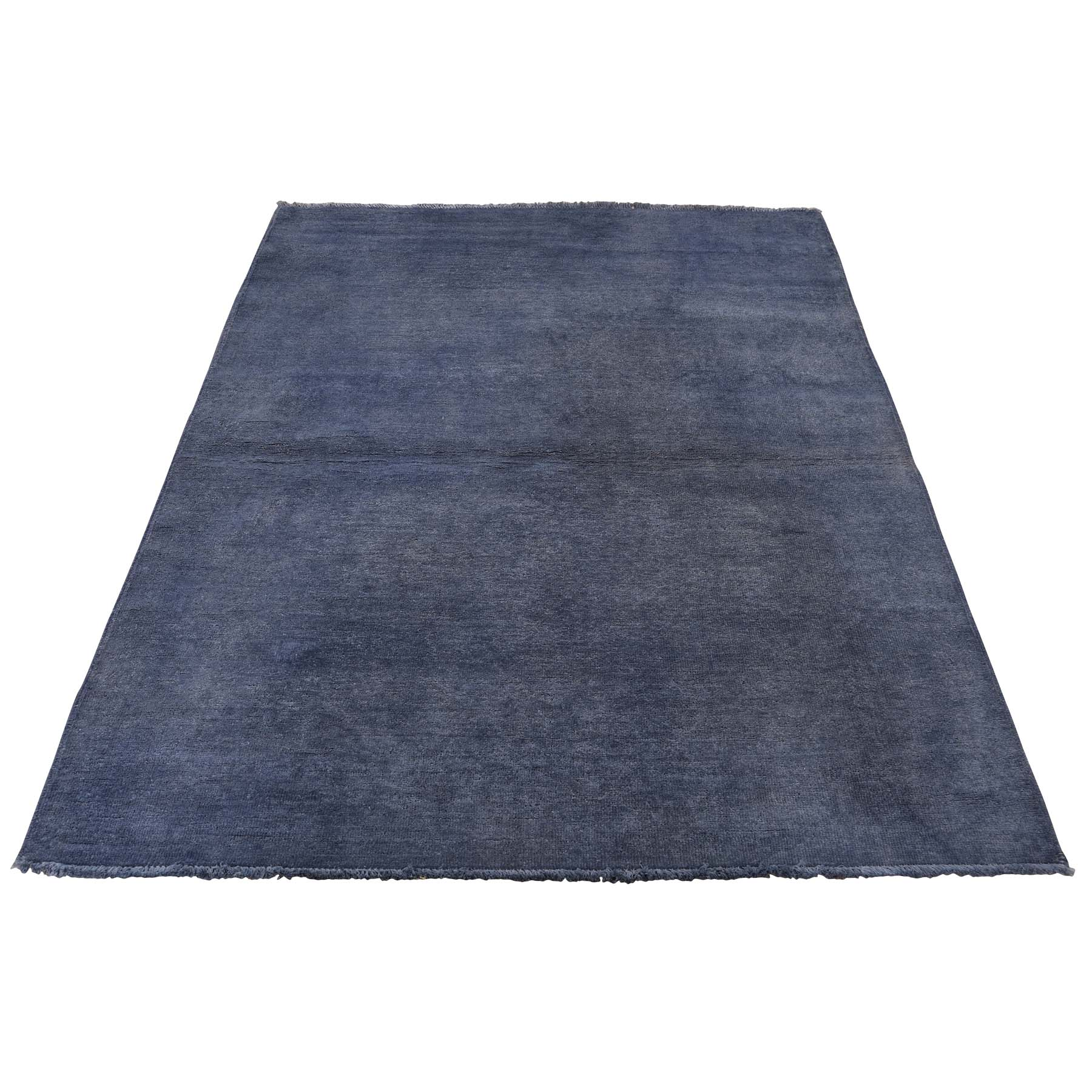 """4'1""""x5'10"""" Overdyed Peshawar Hand Knotted Pure Wool Oriental Rug"""