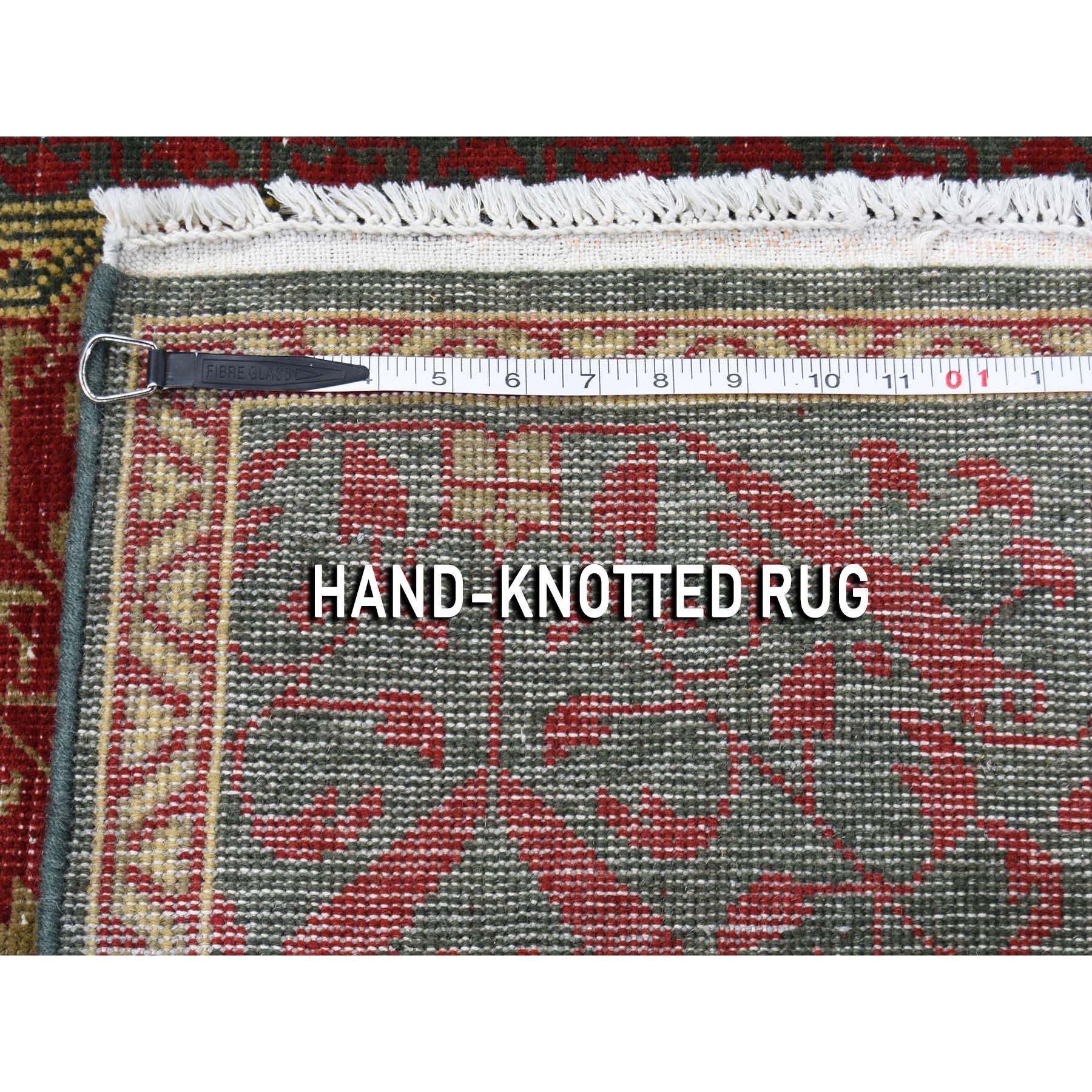 4-x6- Vintage Look Mamluk Zero Pile Shaved Low Worn Wool Rug Oriental