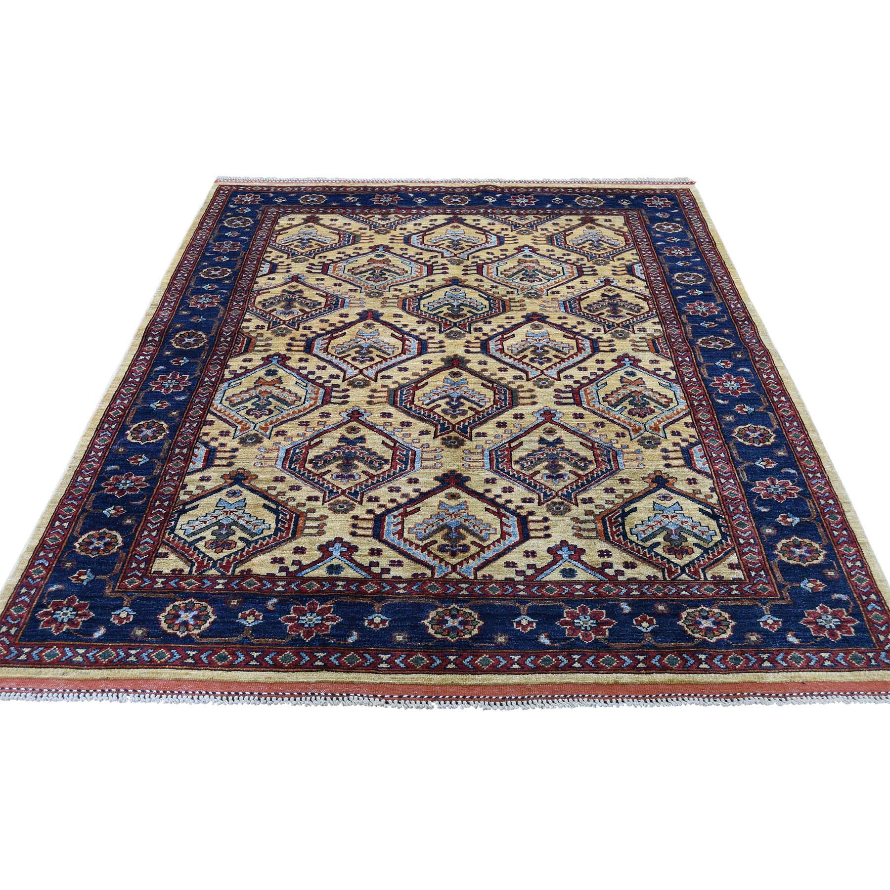"5'2""X6'6"" Afghan Ersari Pure Wool Hand-Knotted Oriental Rug moadd08c"
