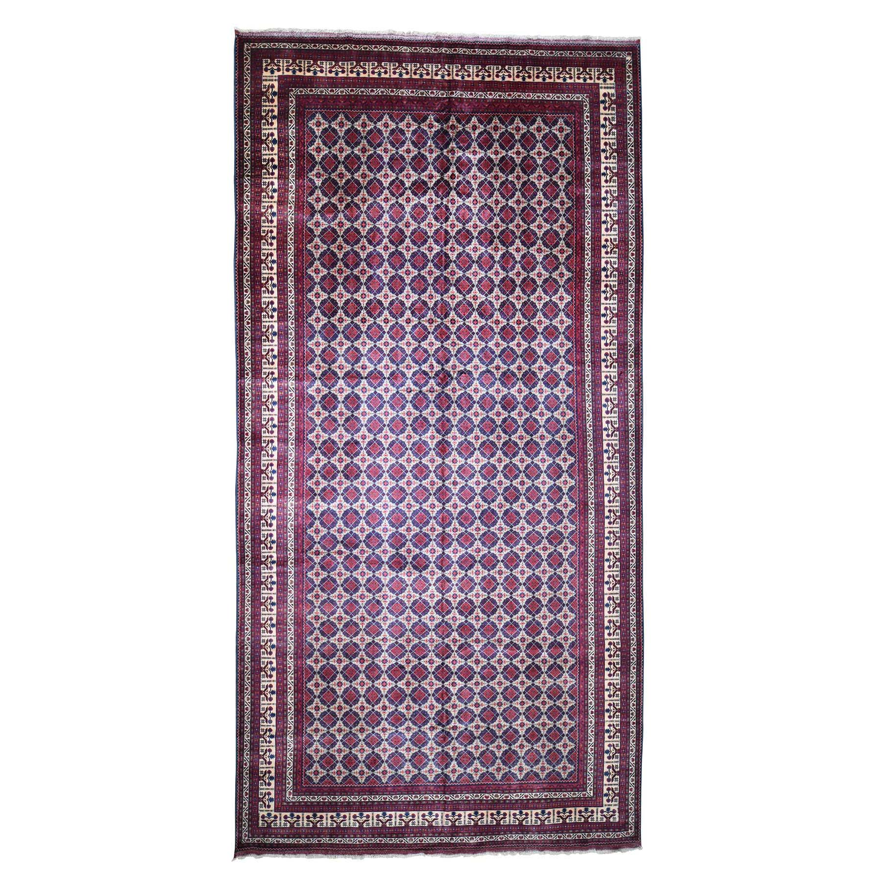 Gallery Size Afghan Khamyab Vegetables Dyes Hand Knotted Oriental Rug moadd09b