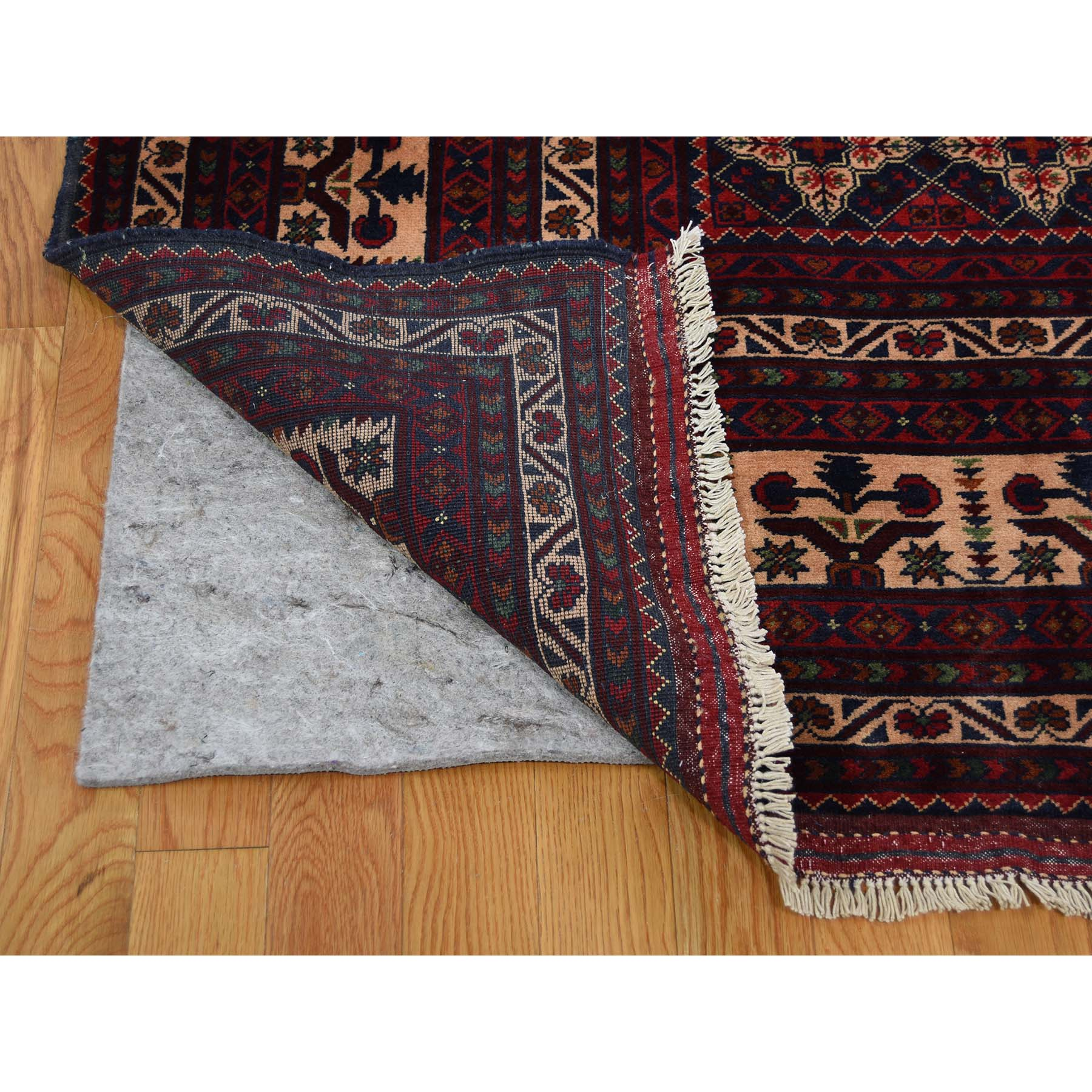 9-9 x19-8  Gallery Size Afghan Khamyab vegetables Dyes Hand Knotted Oriental Rug