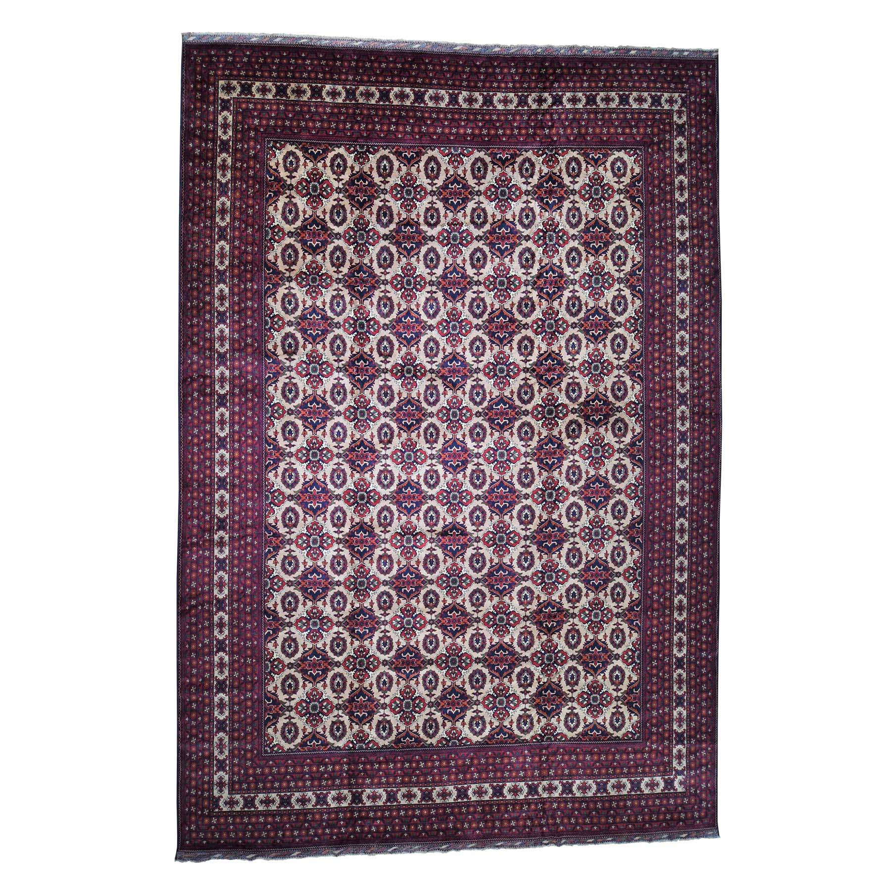 "13'X19'4"" Oversize Afghan Khamyab Hand-Knotted Pure Wool Oriental Rug moaddaea"