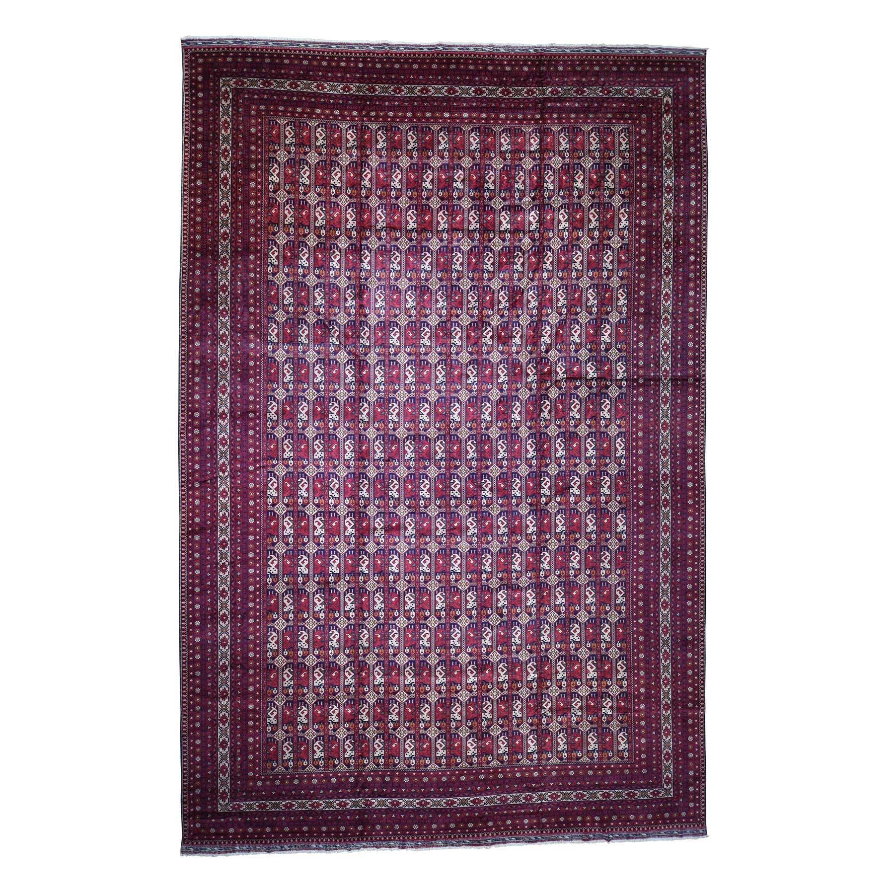 "12'10""X19'7"" Oversize Afghan Khamyab Pure Wool Hand Knotted Oriental Rug moaddae8"