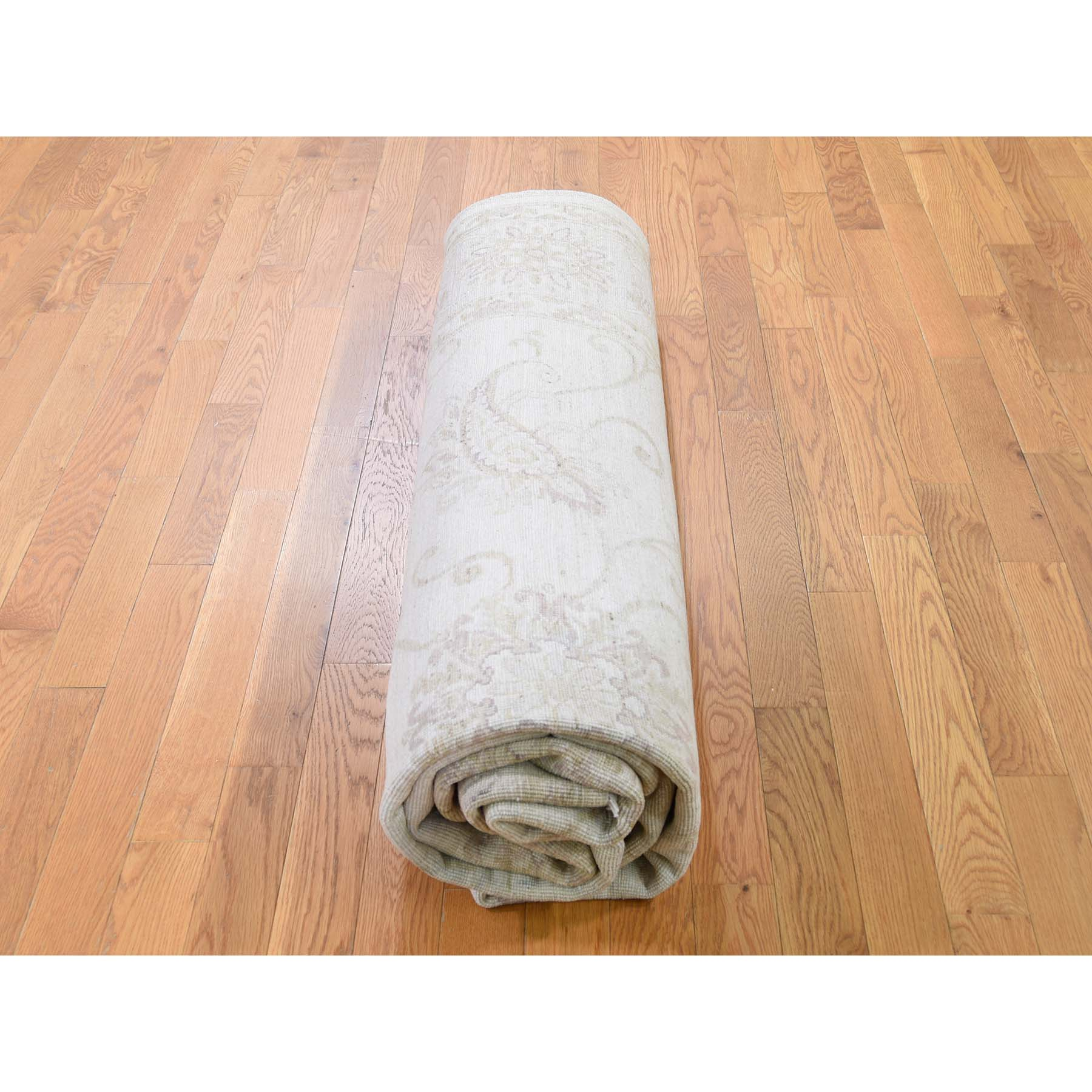 """8'x9'5"""" Oushak Design Stone wash Pure Wool Hand Knotted Oriental Rug"""