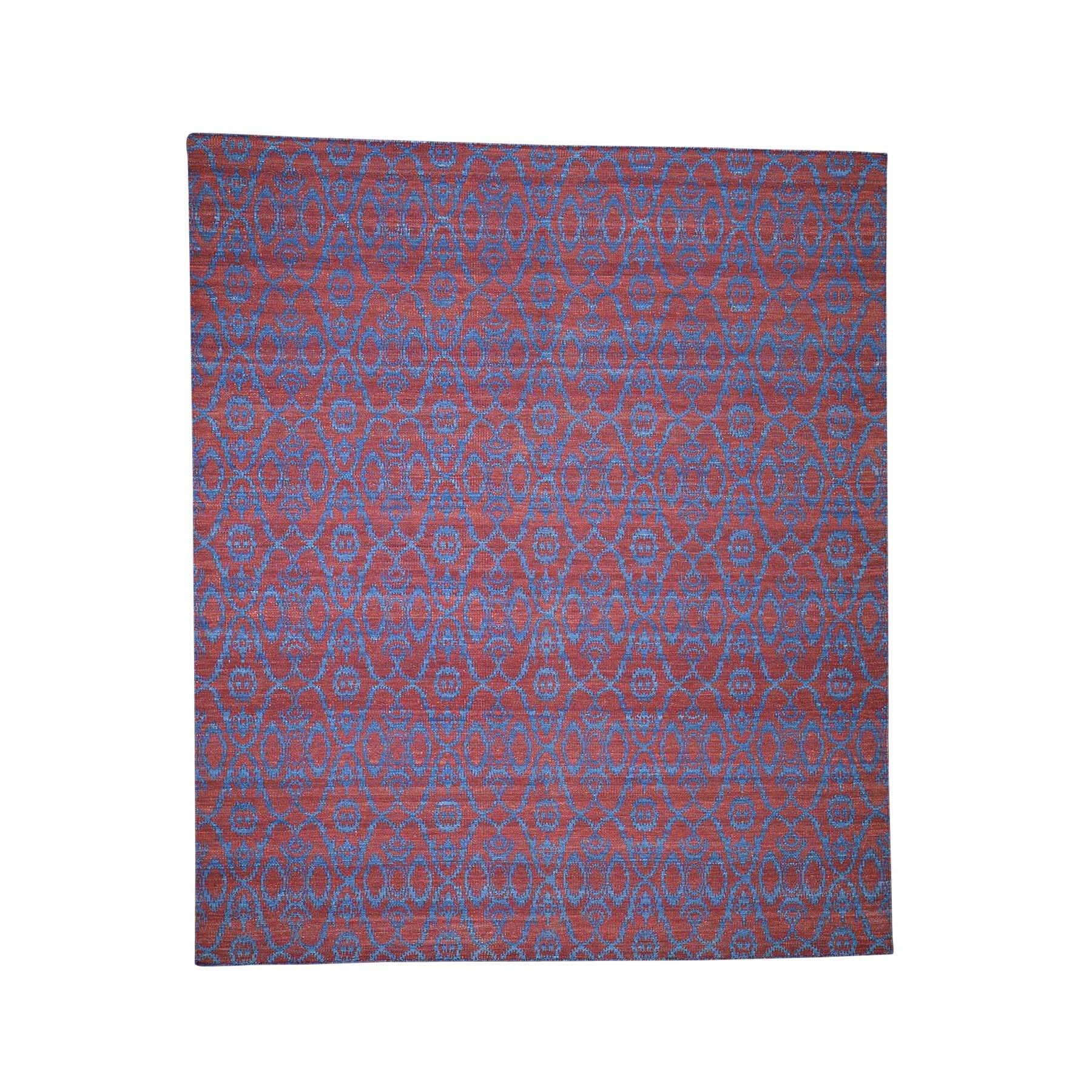 "8'4""X9'8"" Reversible Hand Woven Flat Weave Durie Kilim Oriental Rug moadda99"