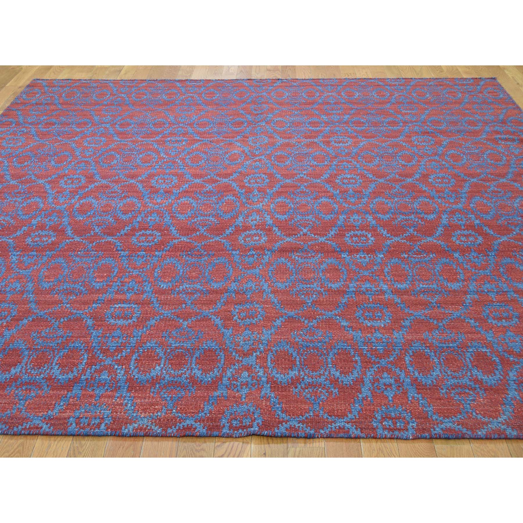 8-4 x9-8  Reversible Hand Woven Flat Weave Durie Kilim Oriental Rug