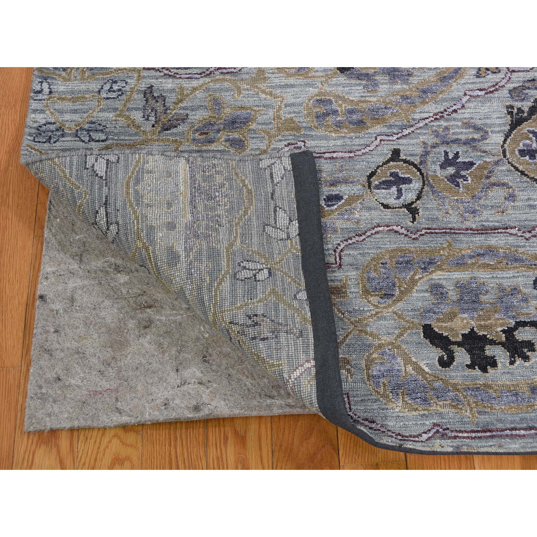 8-10 x12-1  THE MAHARAJA Silk with Oxidized Wool Hand-Knotted Oriental Rug