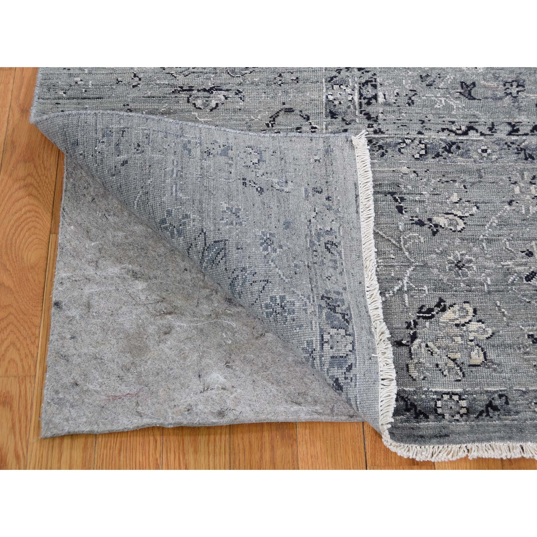 8-3 x10-1  Silk With Textured Wool Broken Persian Design Hand-Knotted Oriental Rug