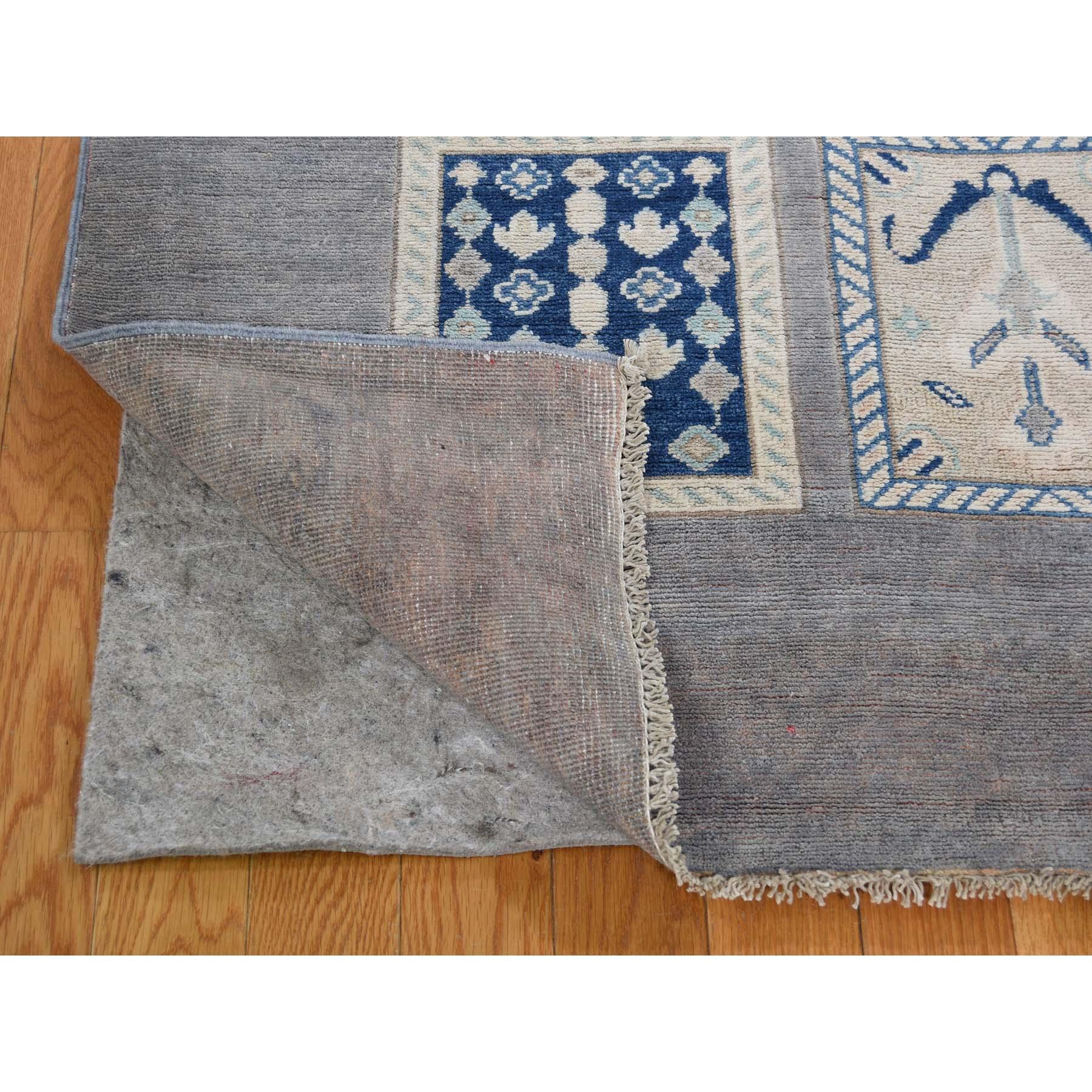 8-5 x11-3  Vintage Look Kazak Garden Design Hand-Knotted Pure Wool Oriental Rug