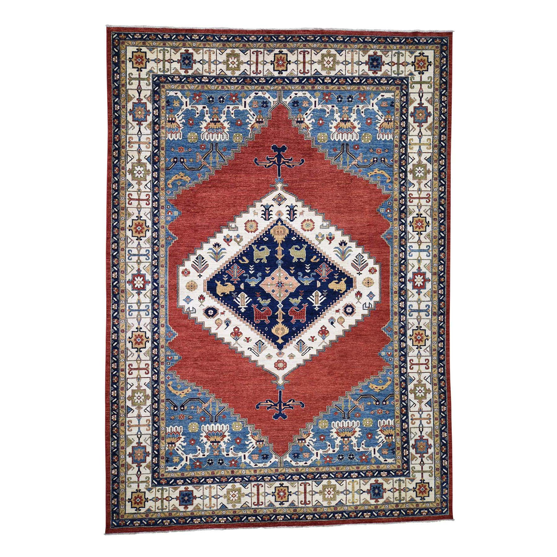 "10'X14'3"" Bakshaish Design Peshawar Hand-Knotted Pure Wool Oriental Rug moaddccc"