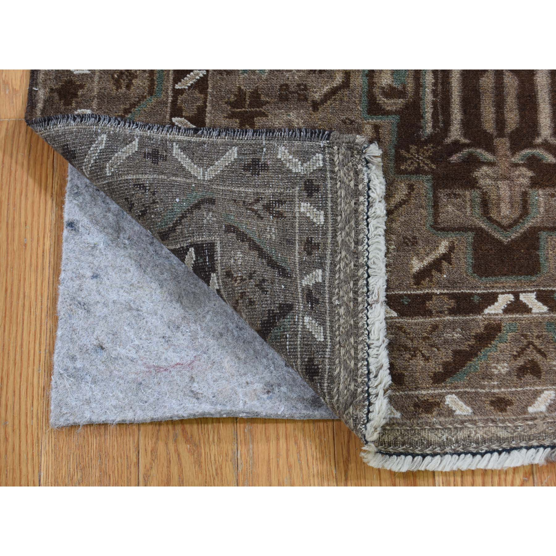 3-x4-8  Vintage Afghan Baluch Natural Color Hand-Knotted Pure Wool Oriental Rug