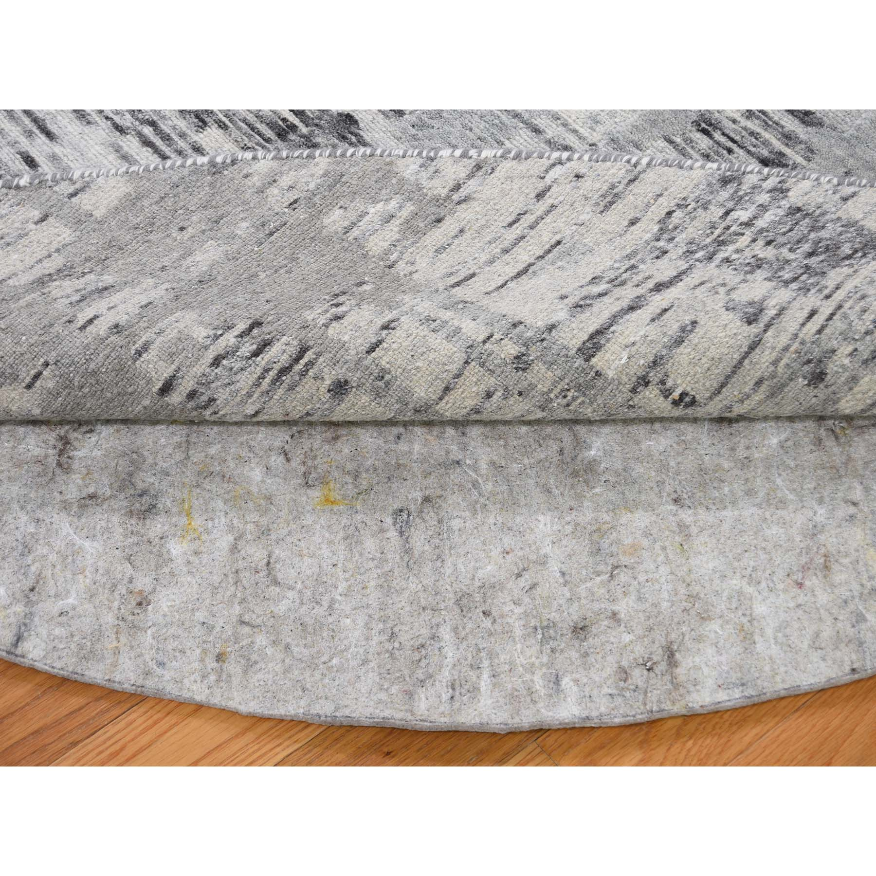10'x10' Undyed Natural Wool Hand Spun Yarn Oriental Hand-Knotted Rug
