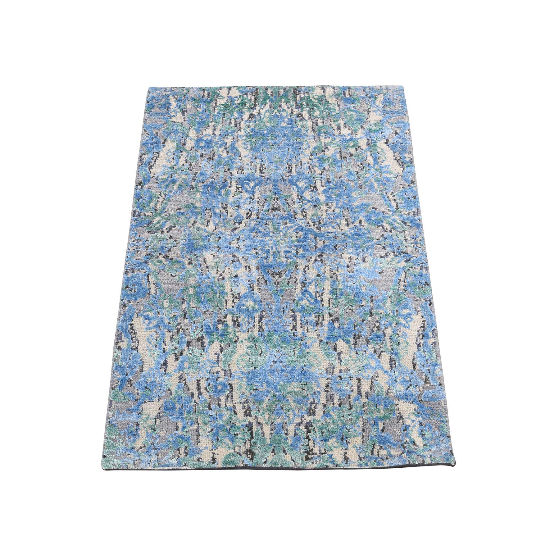 "2'X3'1"" The Water Lilies Silk With Oxidized Wool Hand-Knotted Oriental Rug moadddd0"