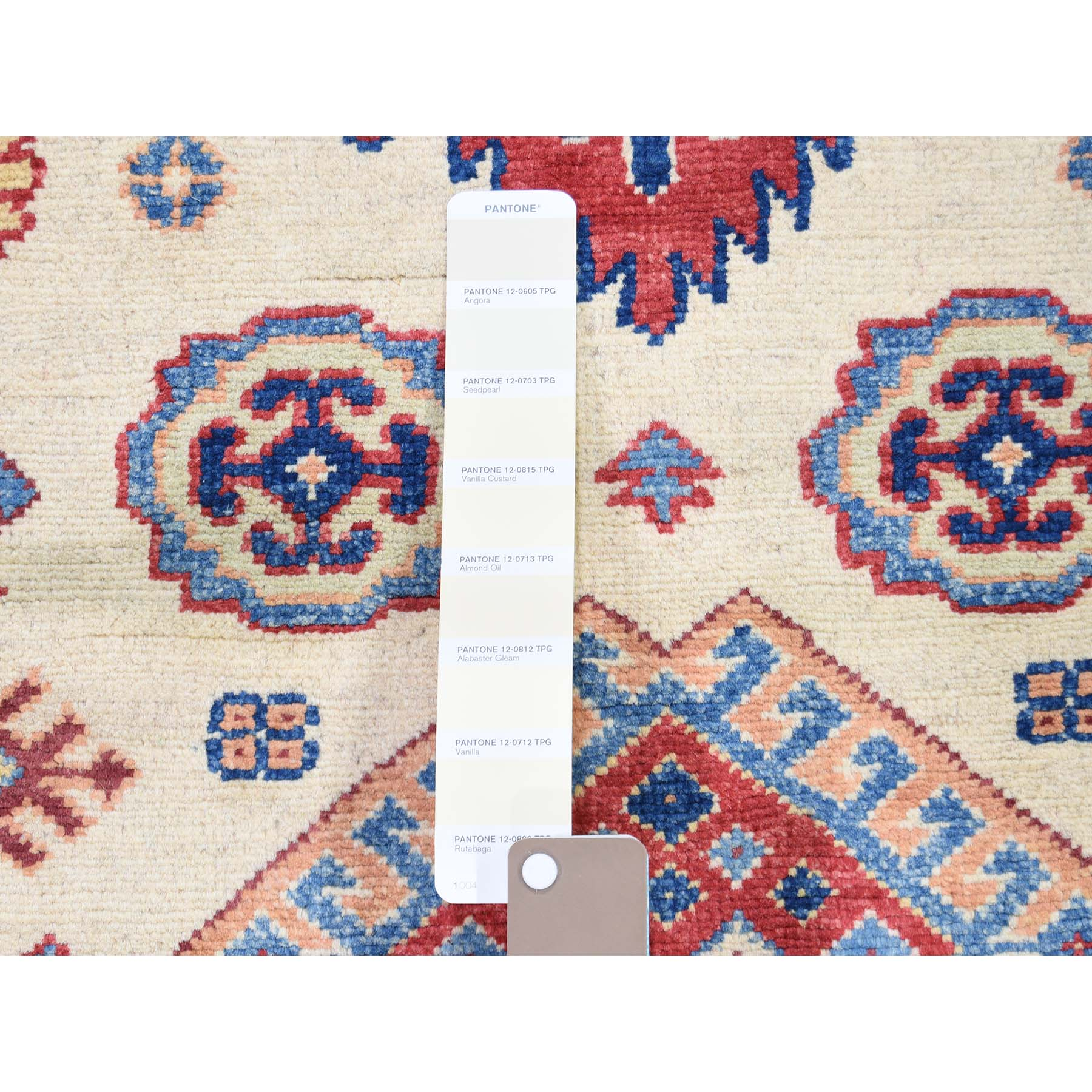 3-x4-7  Special Kazak Pure Wool Hand-Knotted Geometric Design Oriental Rug