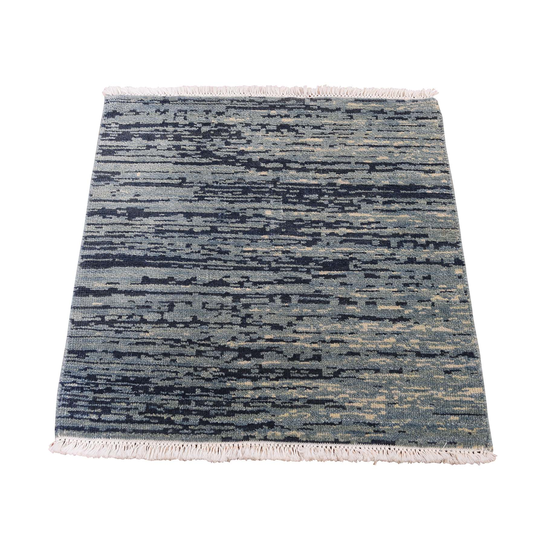 "2'X2'2"" Pure Wool Abstract Design Hand-Knotted Oriental Sample Rug moaddd69"