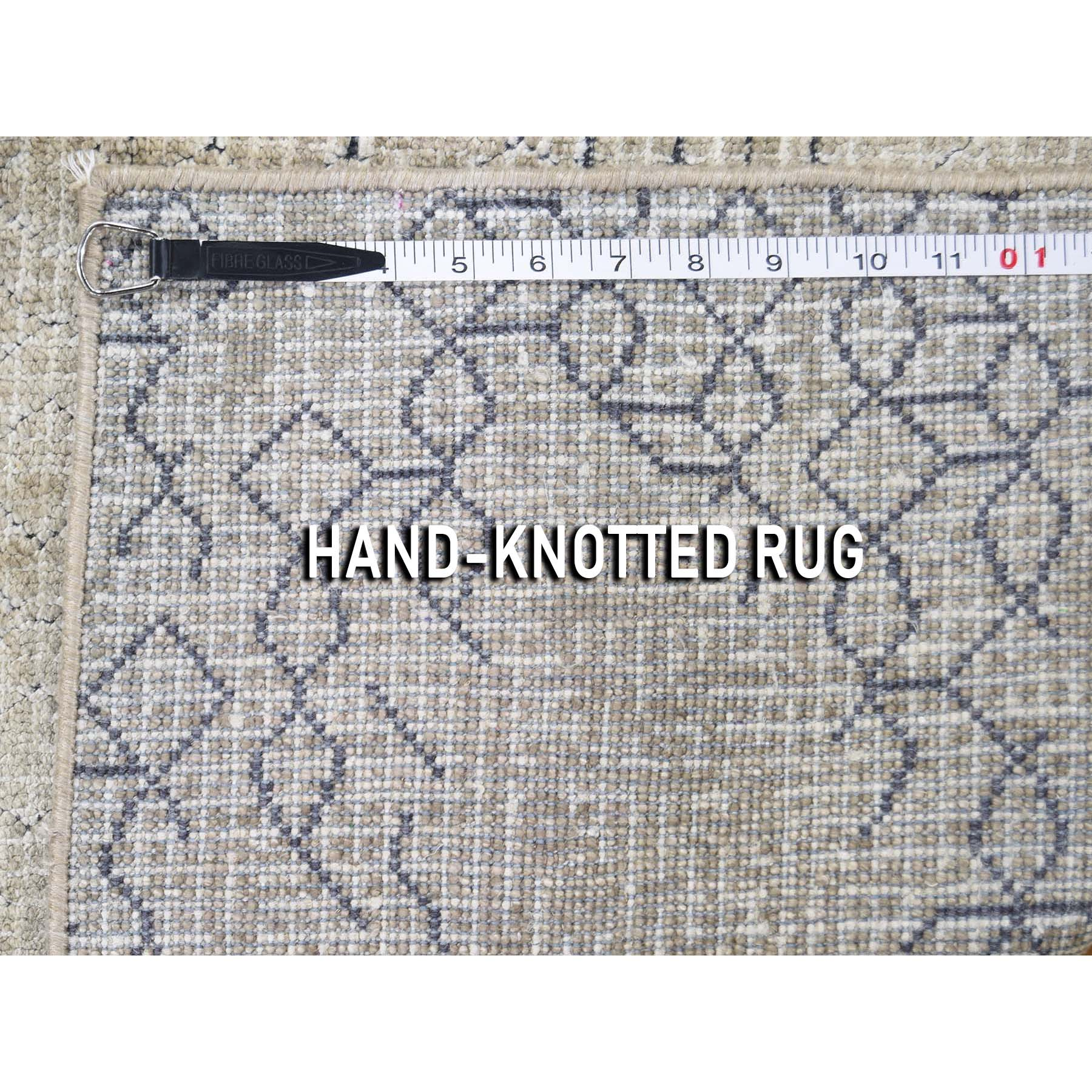 2-x2-3  Pure Silk Hand-Knotted Oriental Sample Rug