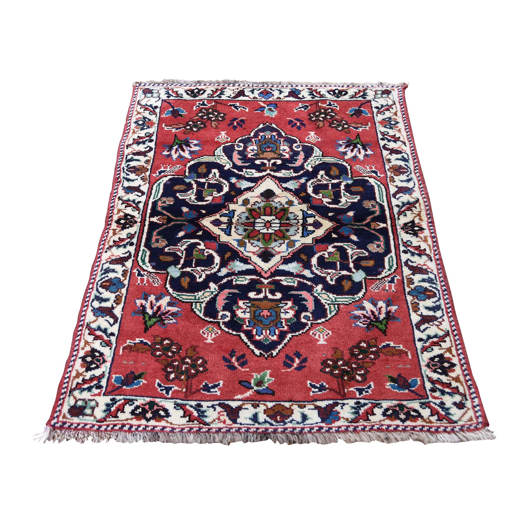 "2'6""X3'9"" Persian Karabakh Pure Wool Hand-Knotted Oriental Rug moaddea7"
