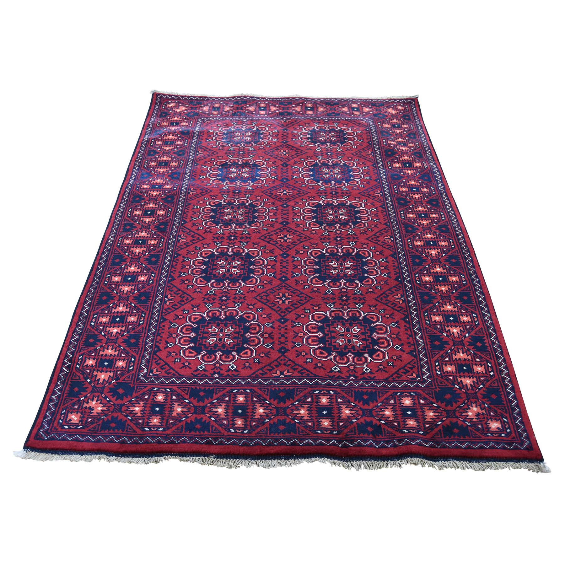 "3'3""X5'6"" Afghan Khamyab Dense Weave Silky Wool Hand Knotted Oriental Rug moaddea8"