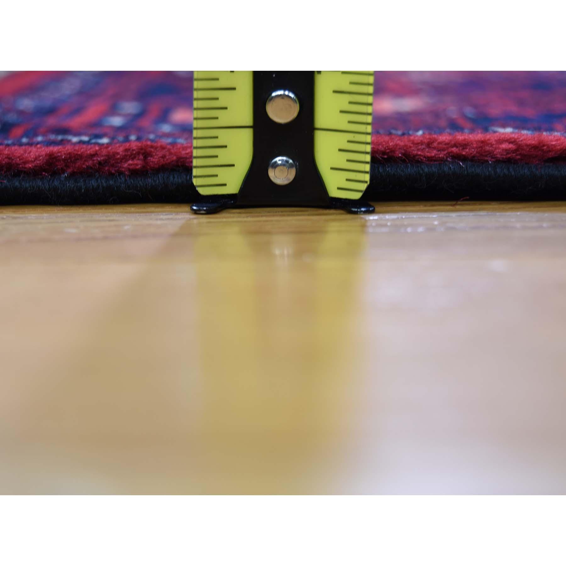 3-3 x5-6  Afghan Khamyab Dense Weave Silky Wool Hand Knotted Oriental Rug