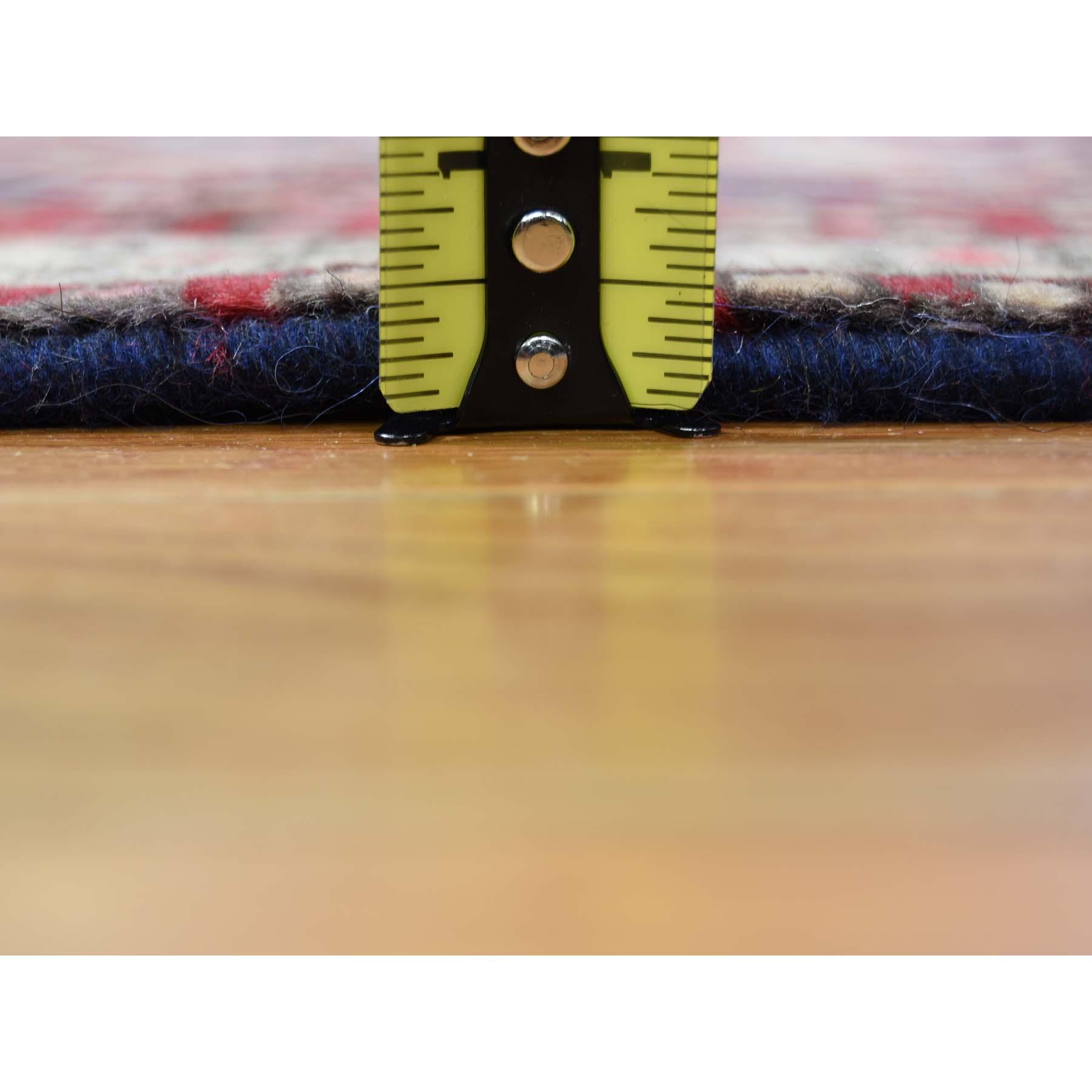 3-8 x10- Vintage Persian Northeast Pure Wool Wide Runner Oriental Rug