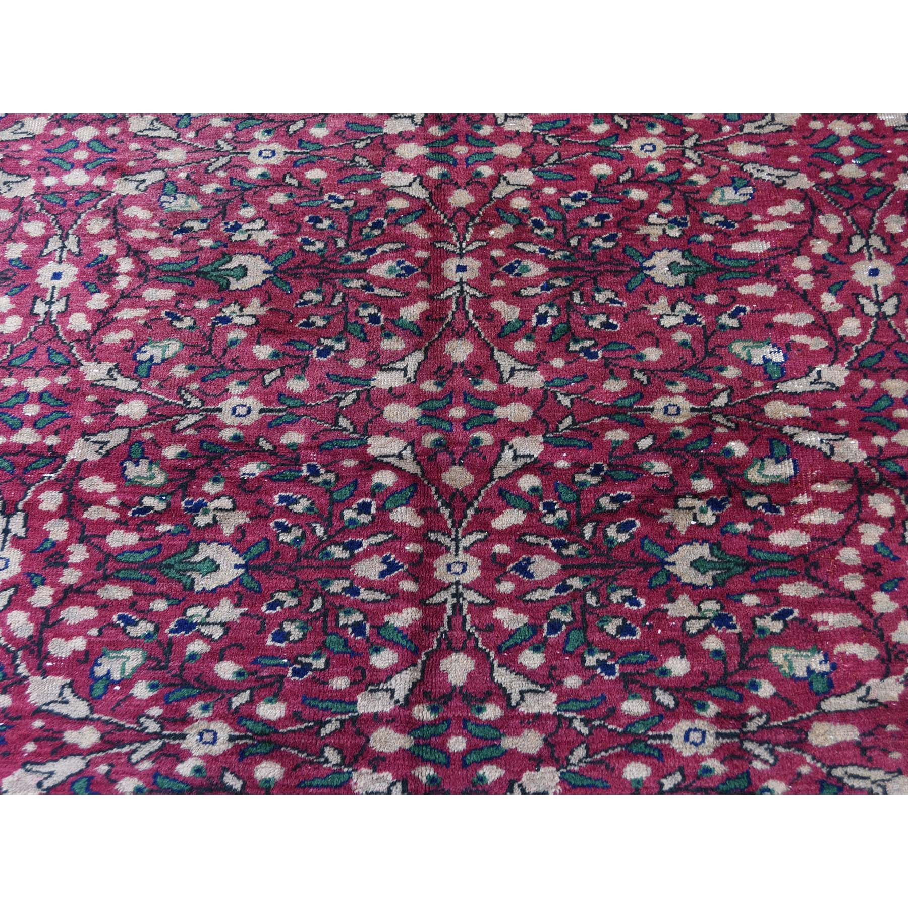 7-6 x11-1  Vintage Turkish Kayseri Sheared Low Pure Wool Hand-Knotted Oriental Rug