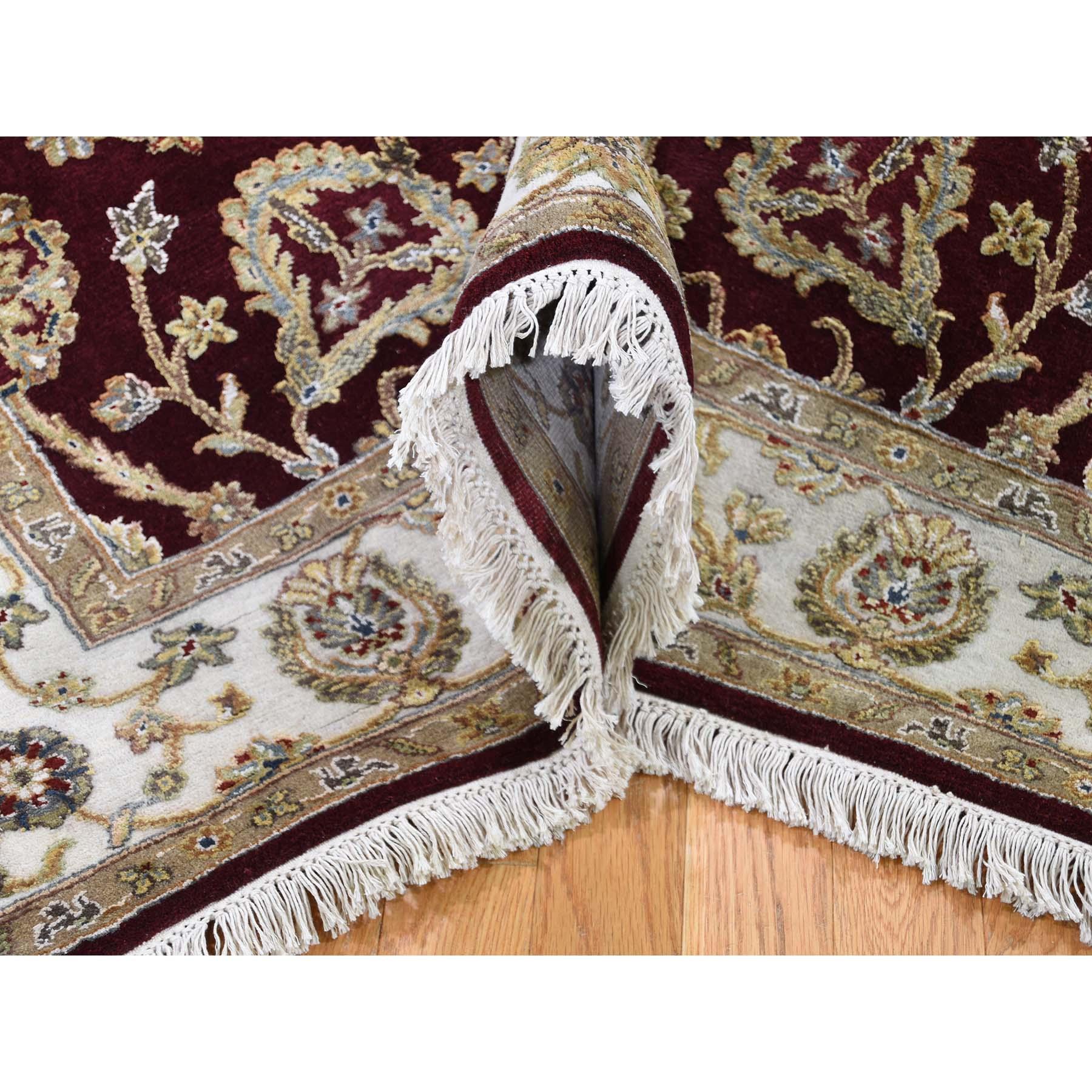 5-1 x7-1  Rajasthan Half Wool and Half Silk Hand-Knotted Oriental Rug