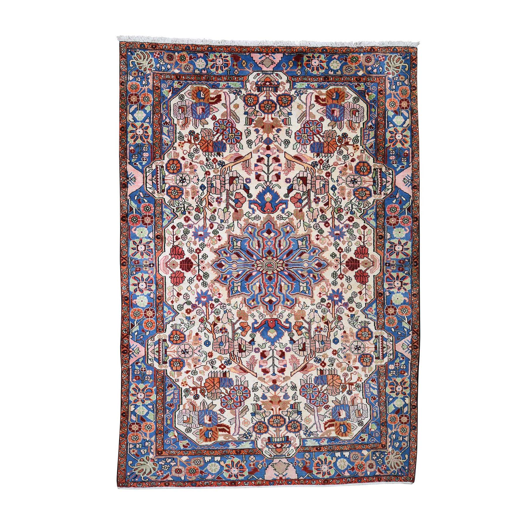 """6'7""""x9'7"""" New Persian Nahavand Hand-Knotted Oriental Rug"""