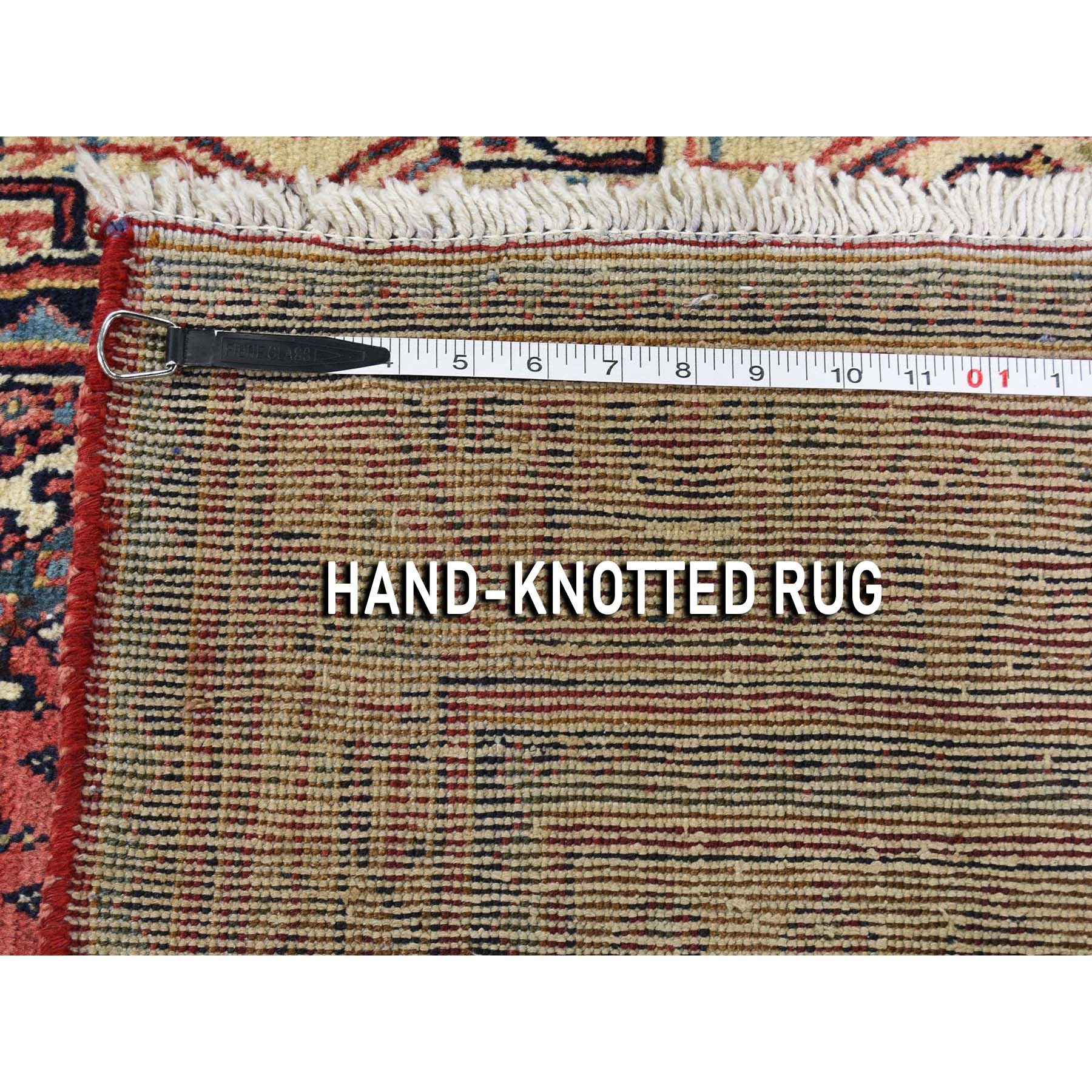 3-7 x5-2  Vintage Persian Sarouk Mir Pure Wool Hand-Knotted Oriental Rug