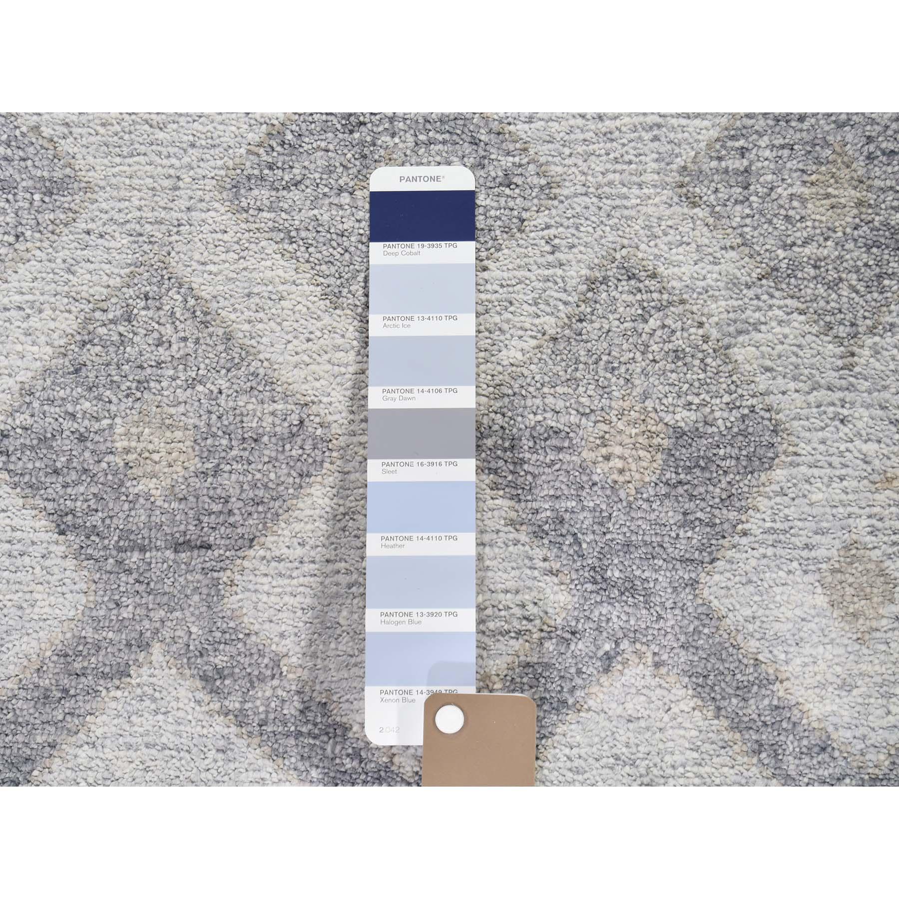 8-9 x11-10  Art Silk Geometric Design Hand-Knotted Oriental Rug