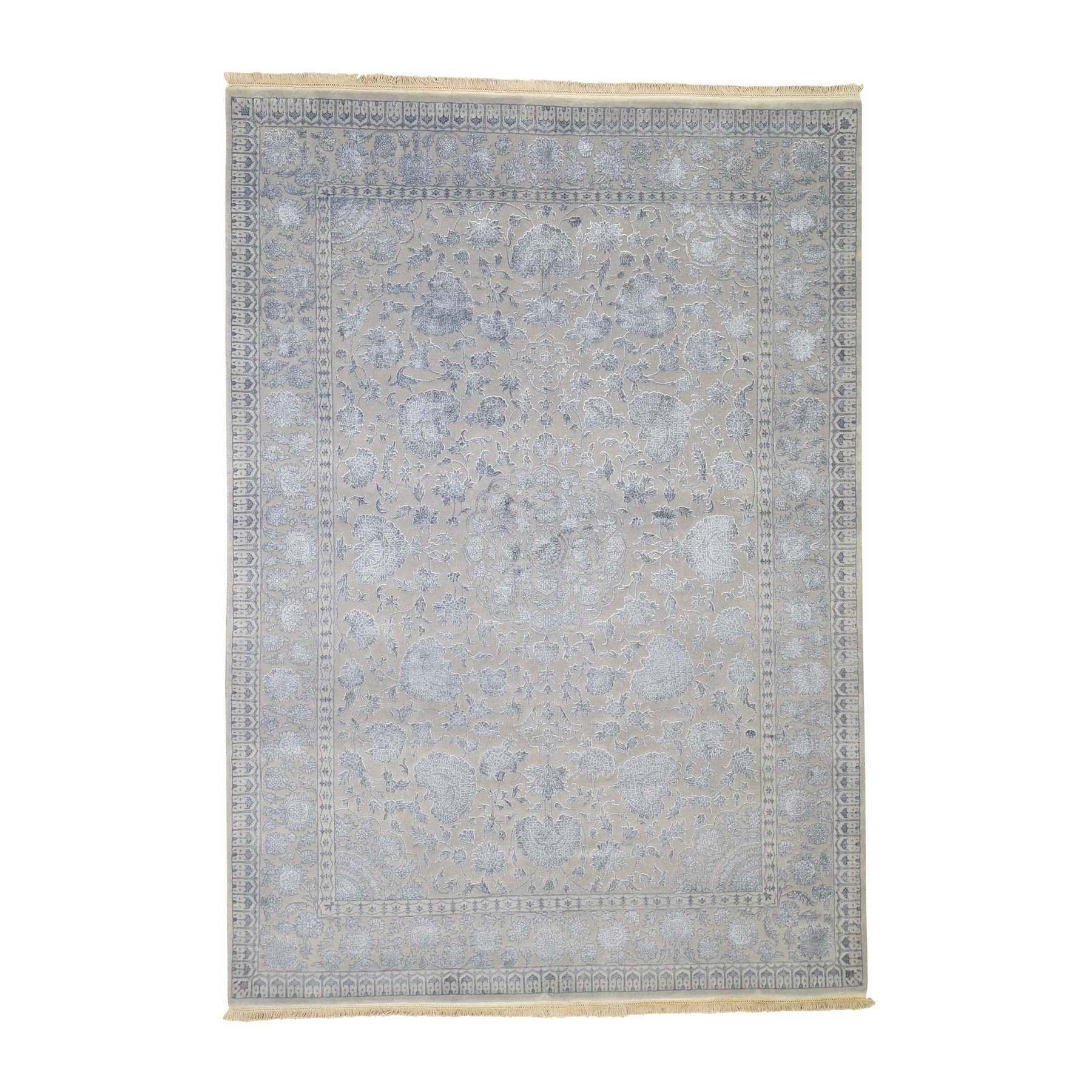 "5'7""X7'10"" Kashan 300 Kpsi Half Wool Half Silk Hand Knotted Oriental Rug moadd7ba"