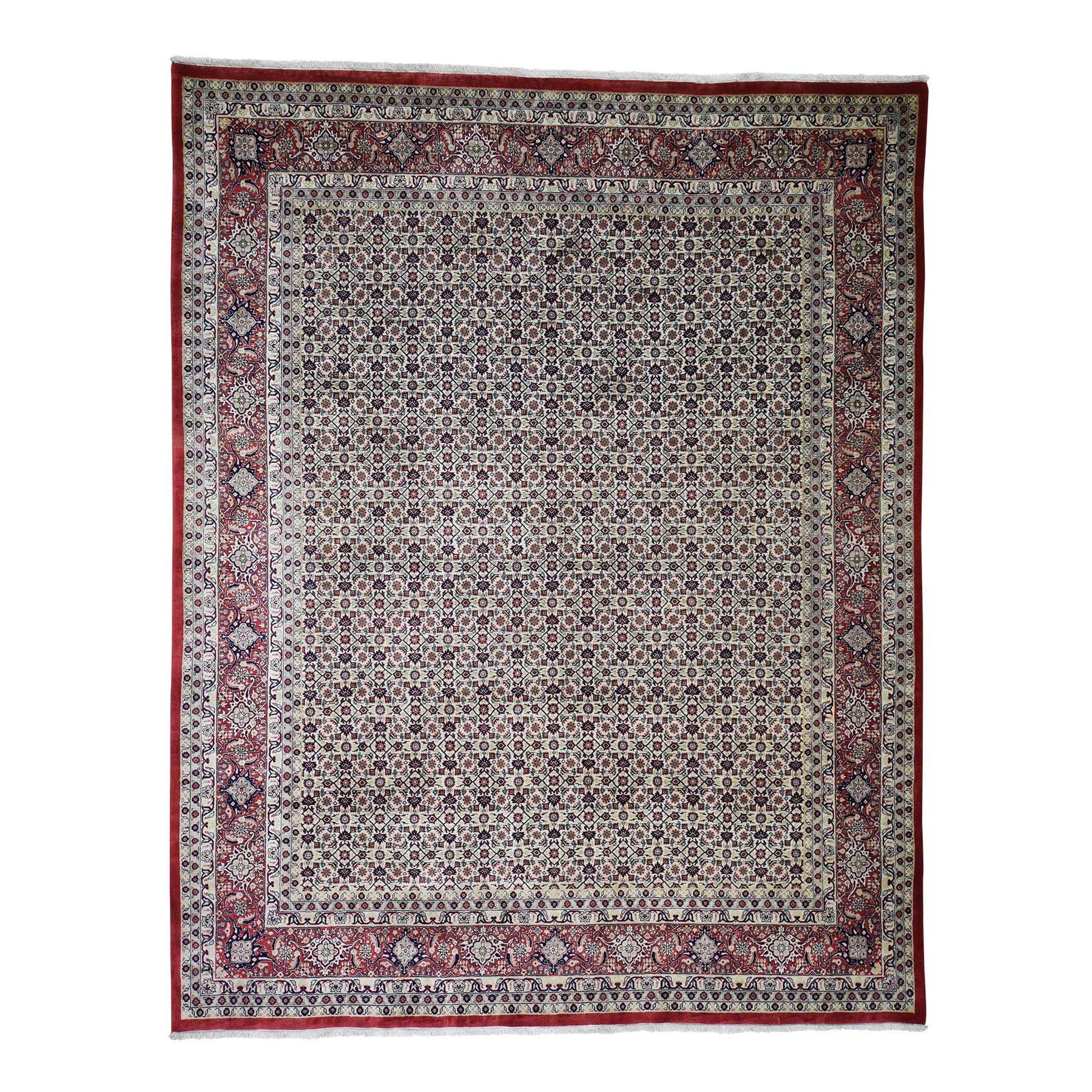 8'x10' Super Fine Bijar 300 Kpsi All Over Design Hand-Knotted Oriental Rug