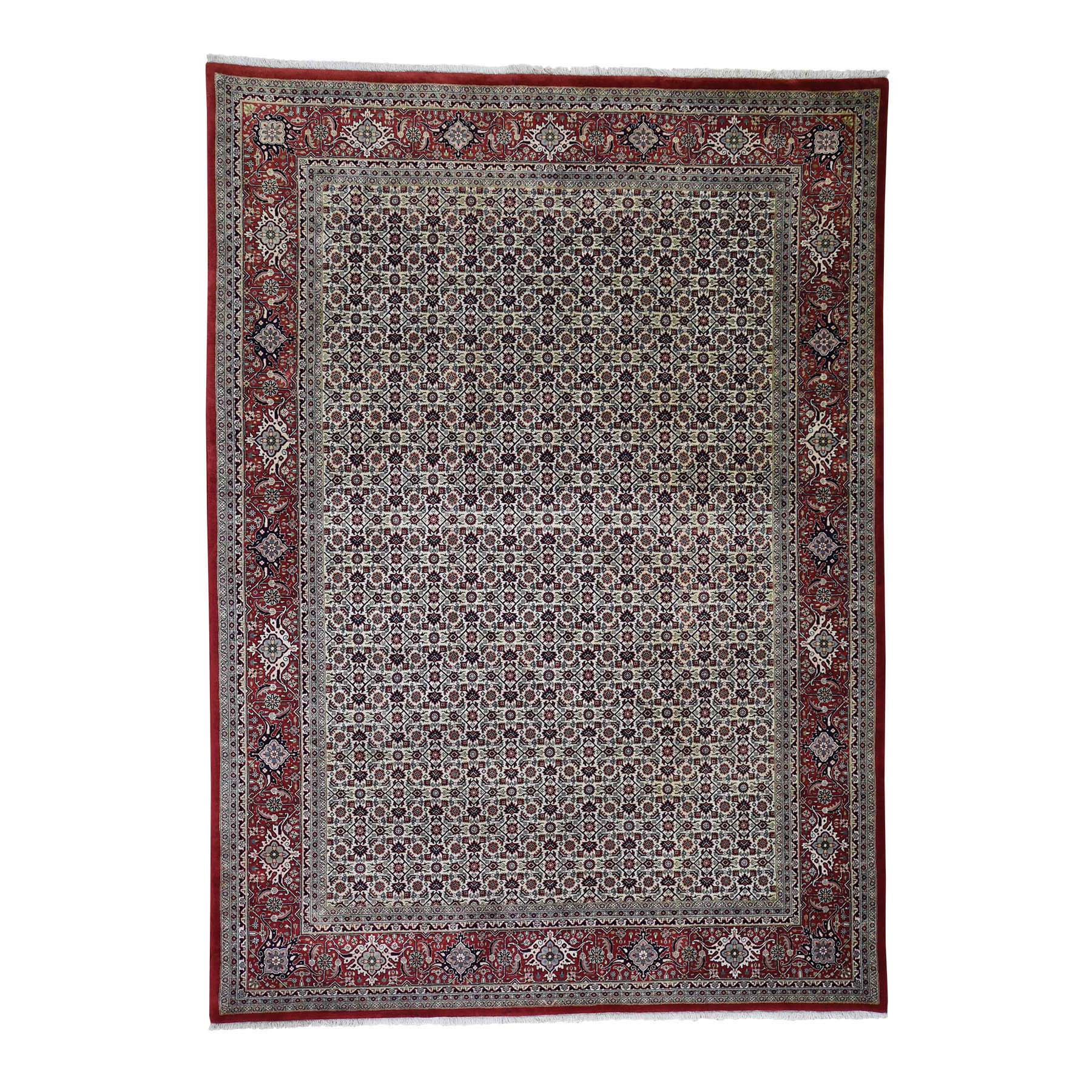 "6'10""x9'5"" Bijar Mahi 300 KPSI Wool and Silk Hand Knotted Oriental Rug"