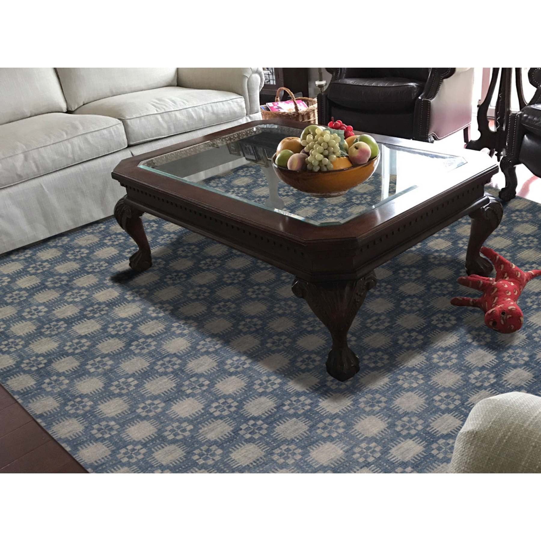 8-x9-8  Modern Tone on Tone Pure Wool Hand Knotted Oriental Rug
