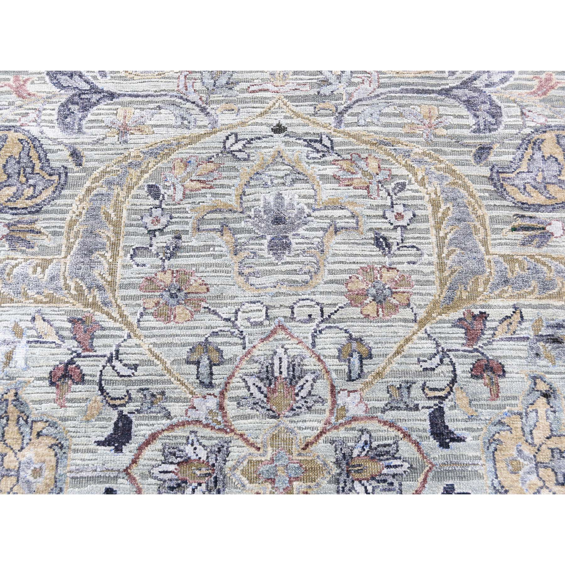 7-9 x10-1  THE MAHARAJA, Silk with Textured Wool Hand-Knotted Oriental Rug
