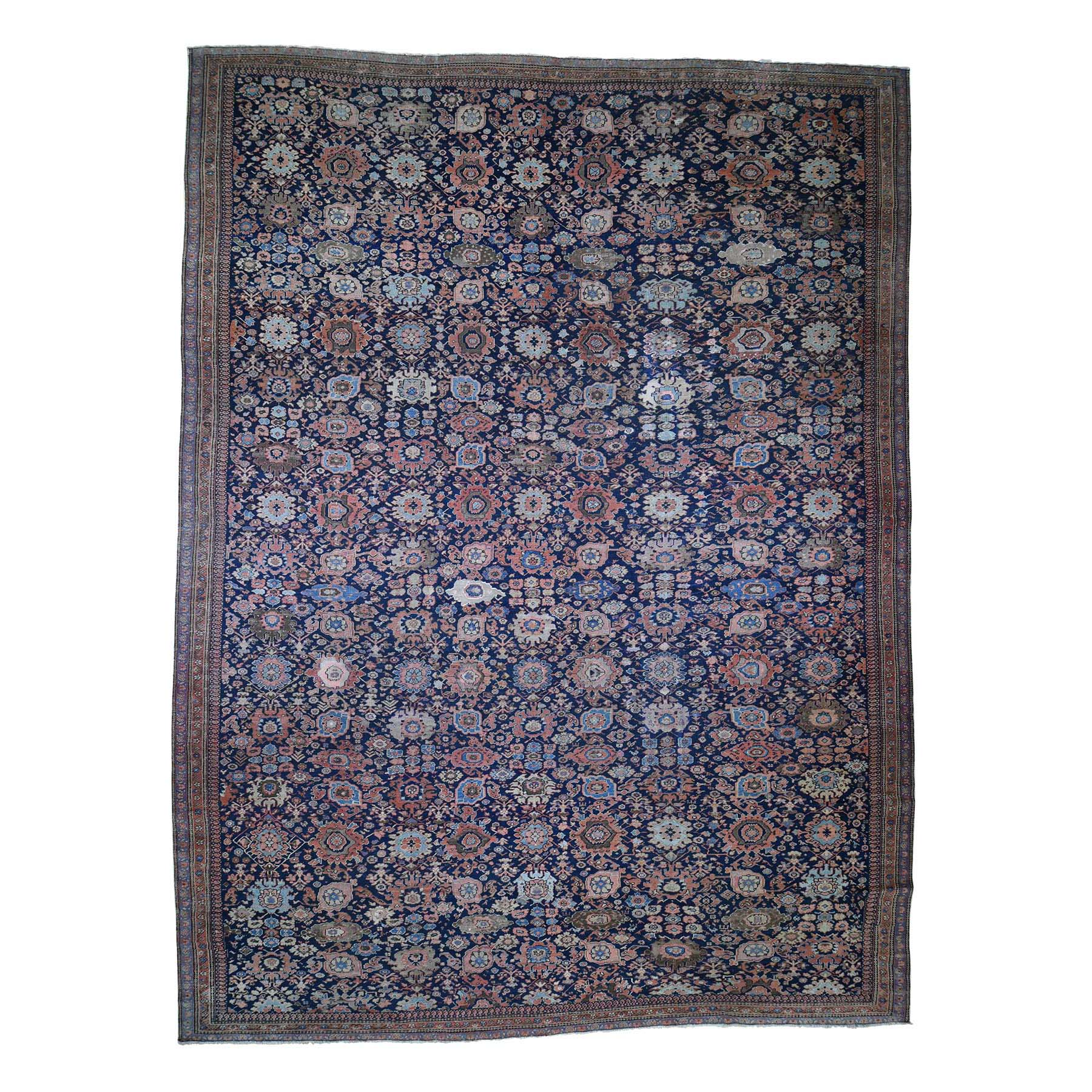 "13'5""X17'10"" Antique Persian Oversized Mahal Even Wear Pure Wool Hand-Knotted Oriental Rug moadd869"